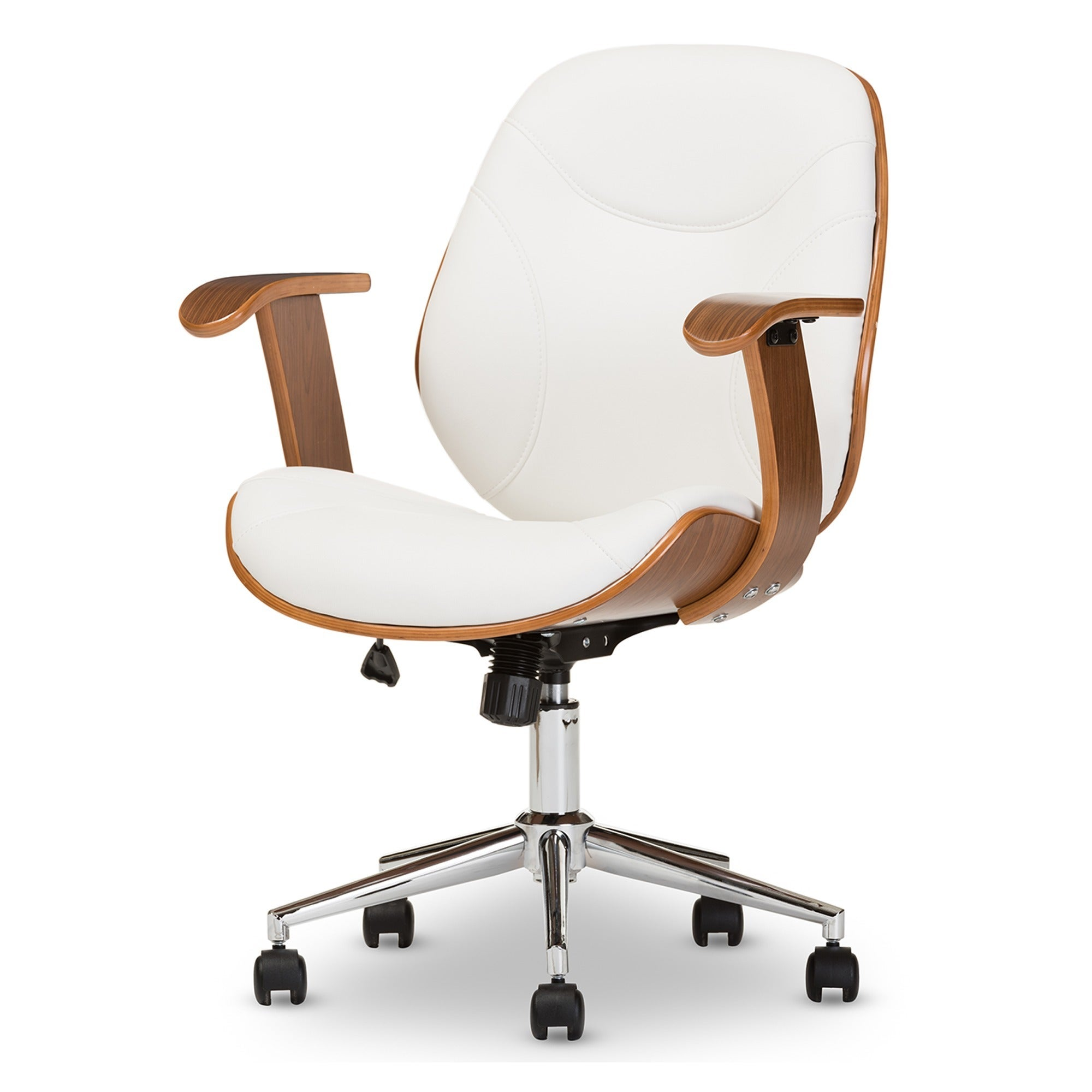 modern desk chair. Shop Baxton Studio Rathburn Walnut Modern Office Chair - On Sale Free Shipping Today Overstock.com 8447993 Desk