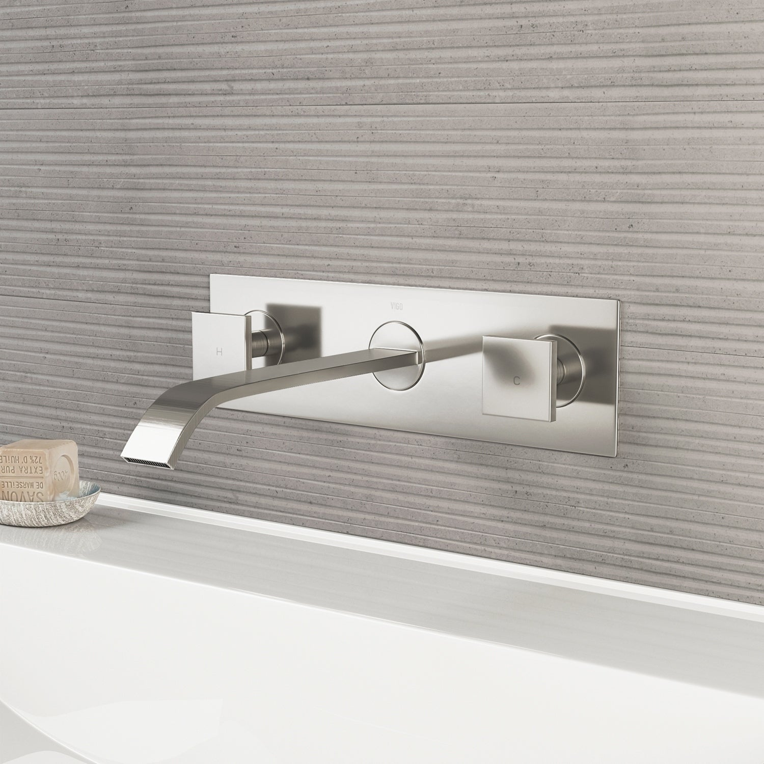 VIGO Titus Bathroom Wall Mount Faucet In Brushed Nickel   Free Shipping  Today   Overstock.com   15741896