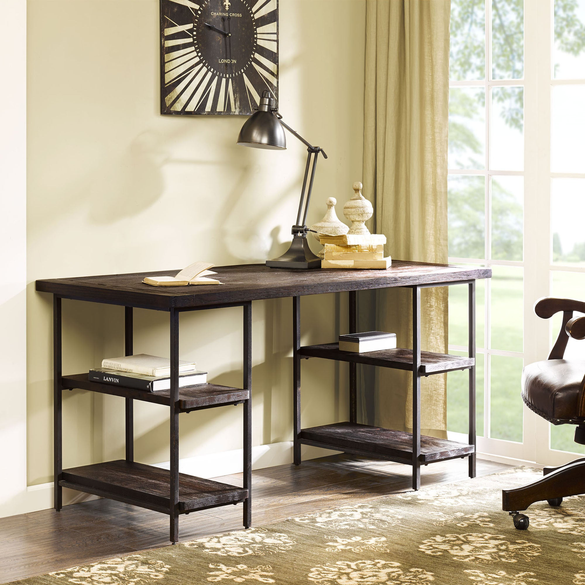 Renate Desk In Coffee Finish Free Shipping Today 15741935