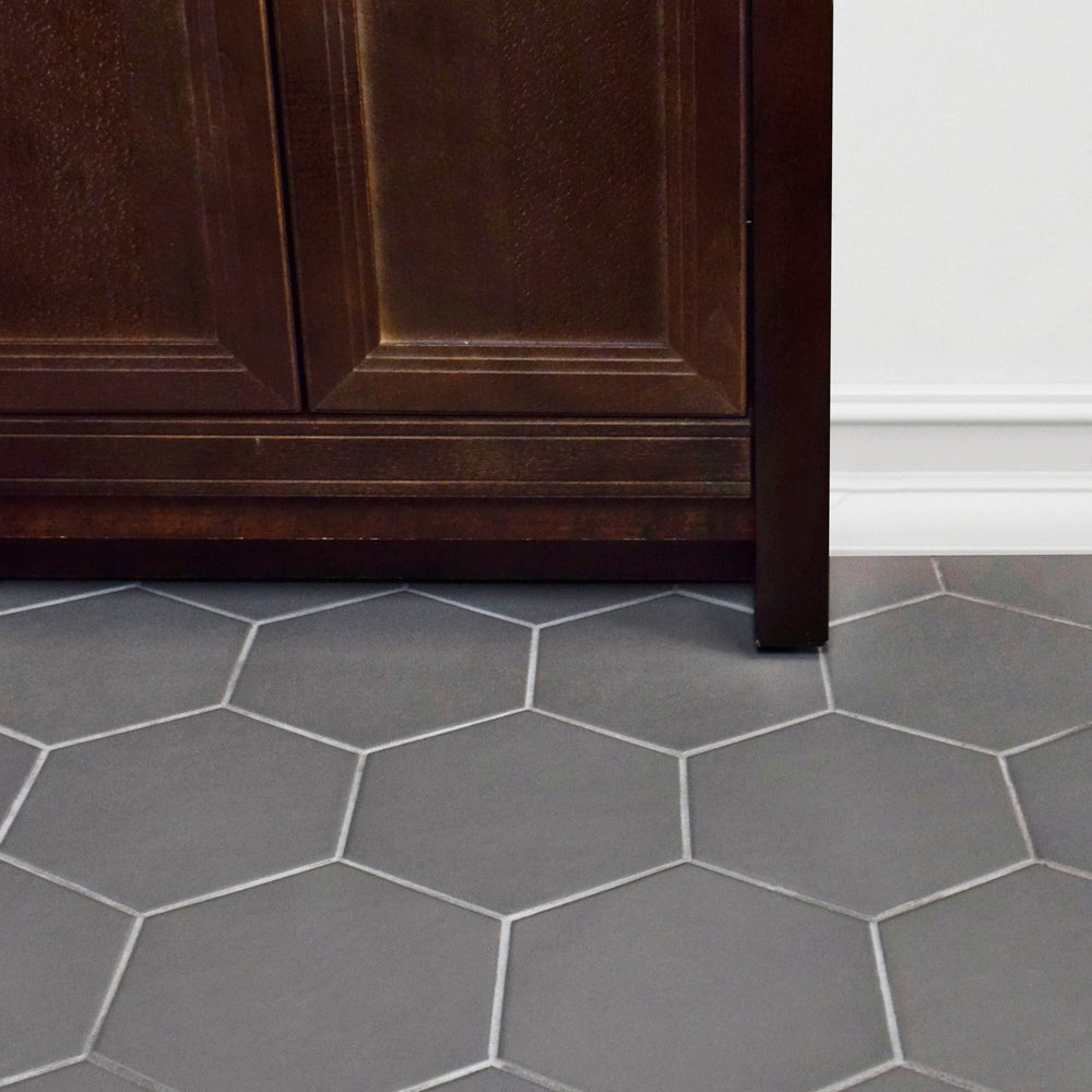 Somertile 7x8 inch hextile matte grey porcelain floor and wall somertile 7x8 inch hextile matte grey porcelain floor and wall tile case of 14 free shipping on orders over 45 overstock 15742537 dailygadgetfo Gallery