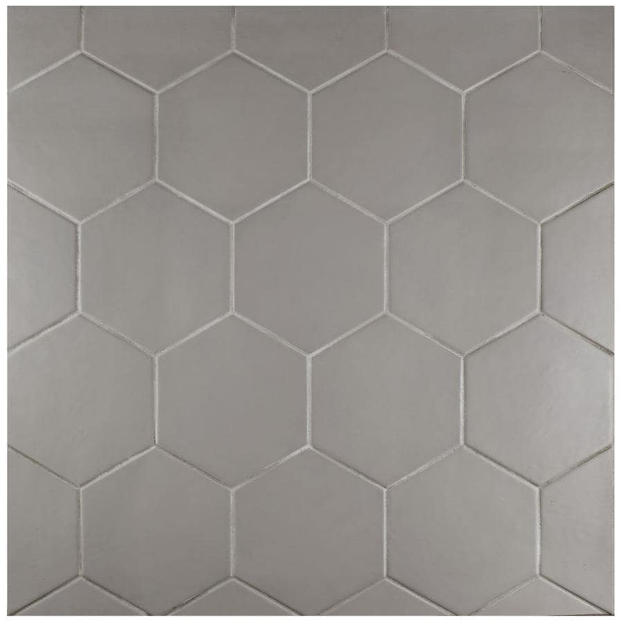Shop SomerTile 7x8-inch Hextile Matte Gris Porcelain Floor and Wall ...