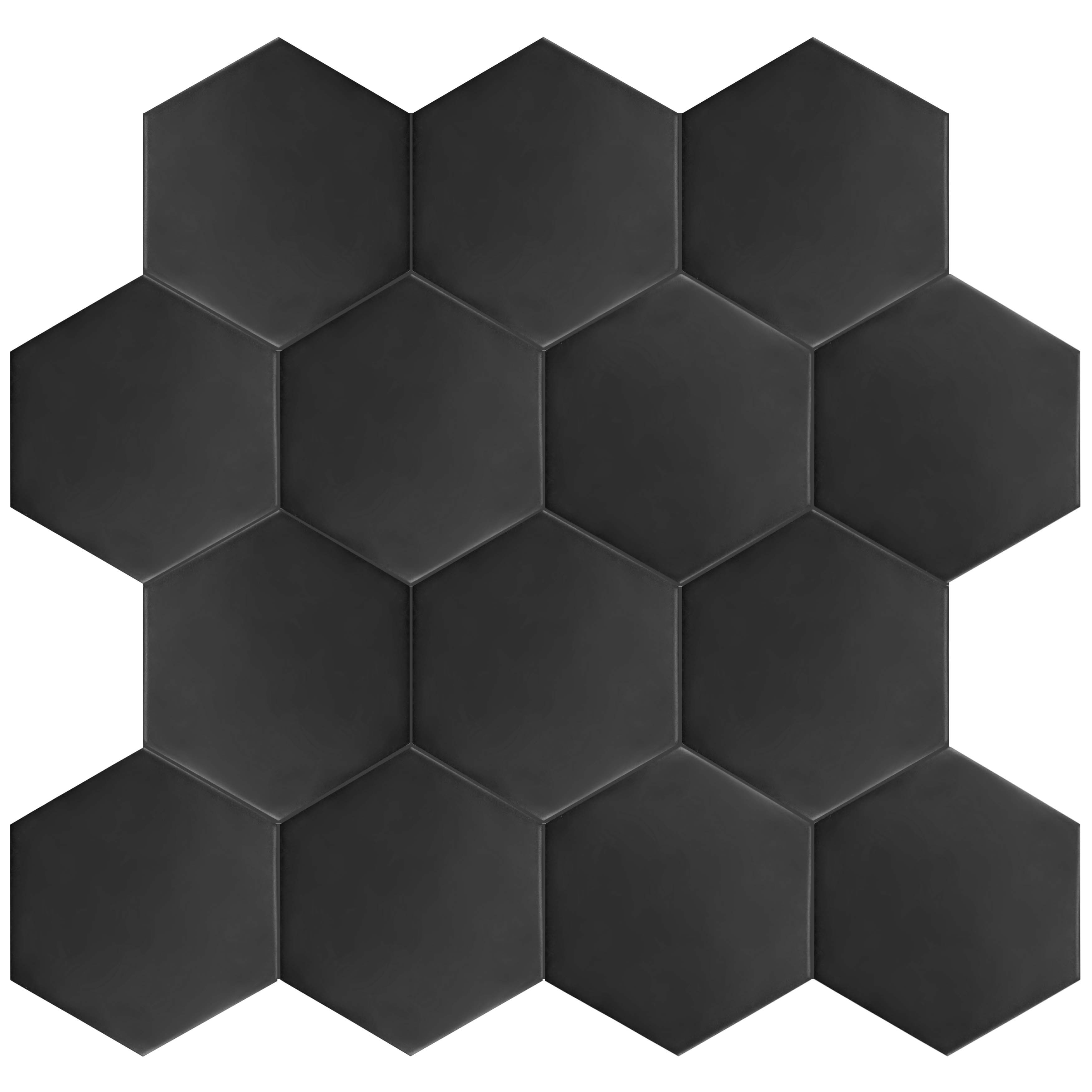Somertile matte black porcelain 7x8 inch hextile floor and wall tile somertile matte black porcelain 7x8 inch hextile floor and wall tile case of 14 free shipping on orders over 45 overstock 15742538 dailygadgetfo Choice Image