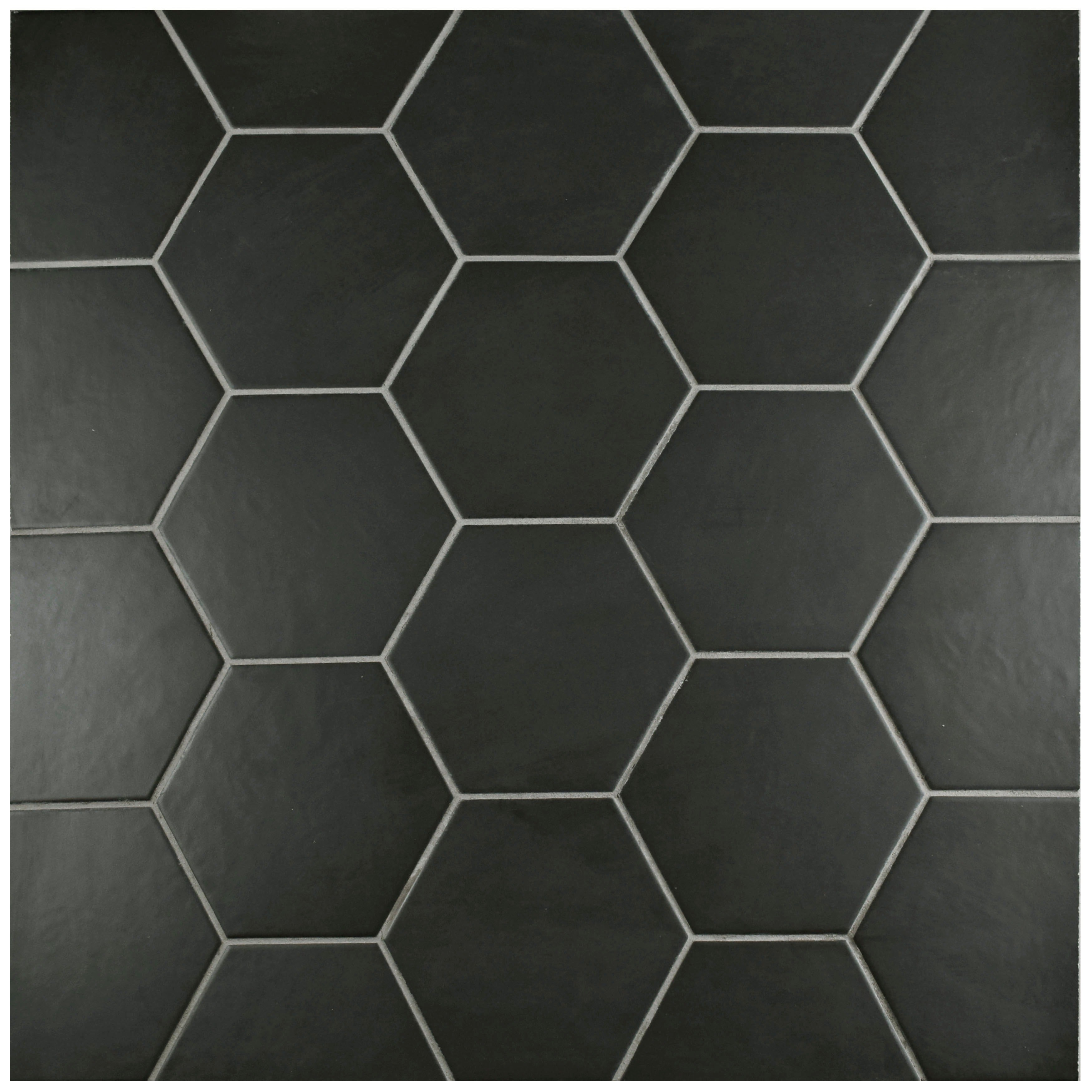 Somertile 7x8 inch hextile matte black porcelain floor and wall somertile 7x8 inch hextile matte black porcelain floor and wall tile case of 14 free shipping on orders over 45 overstock 15742538 dailygadgetfo Choice Image