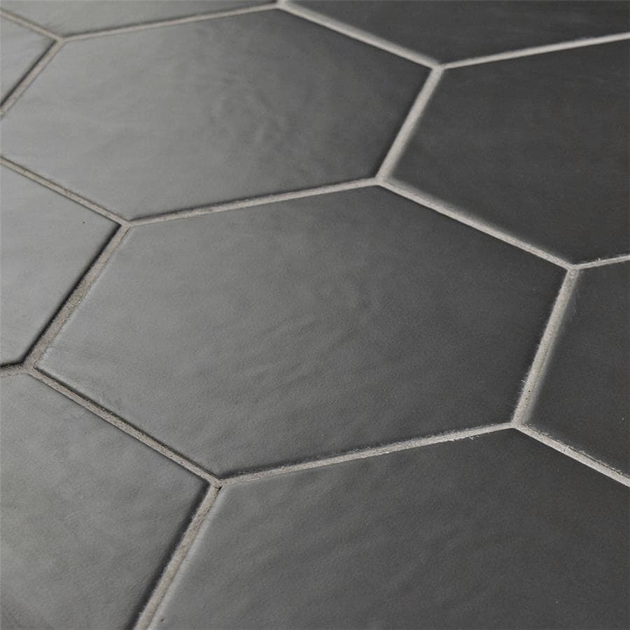 Somertile 7x8 Inch Hextile Matte Nero Porcelain Floor And Wall Tile 14 Tiles 4 Sqft Free Shipping On Orders Over 45 8448805