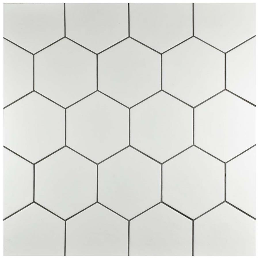 Somertile Hextile Matte White Porcelain Floor And Wall Tile Set Of 14 Free Shipping On Orders Over 45 15742539