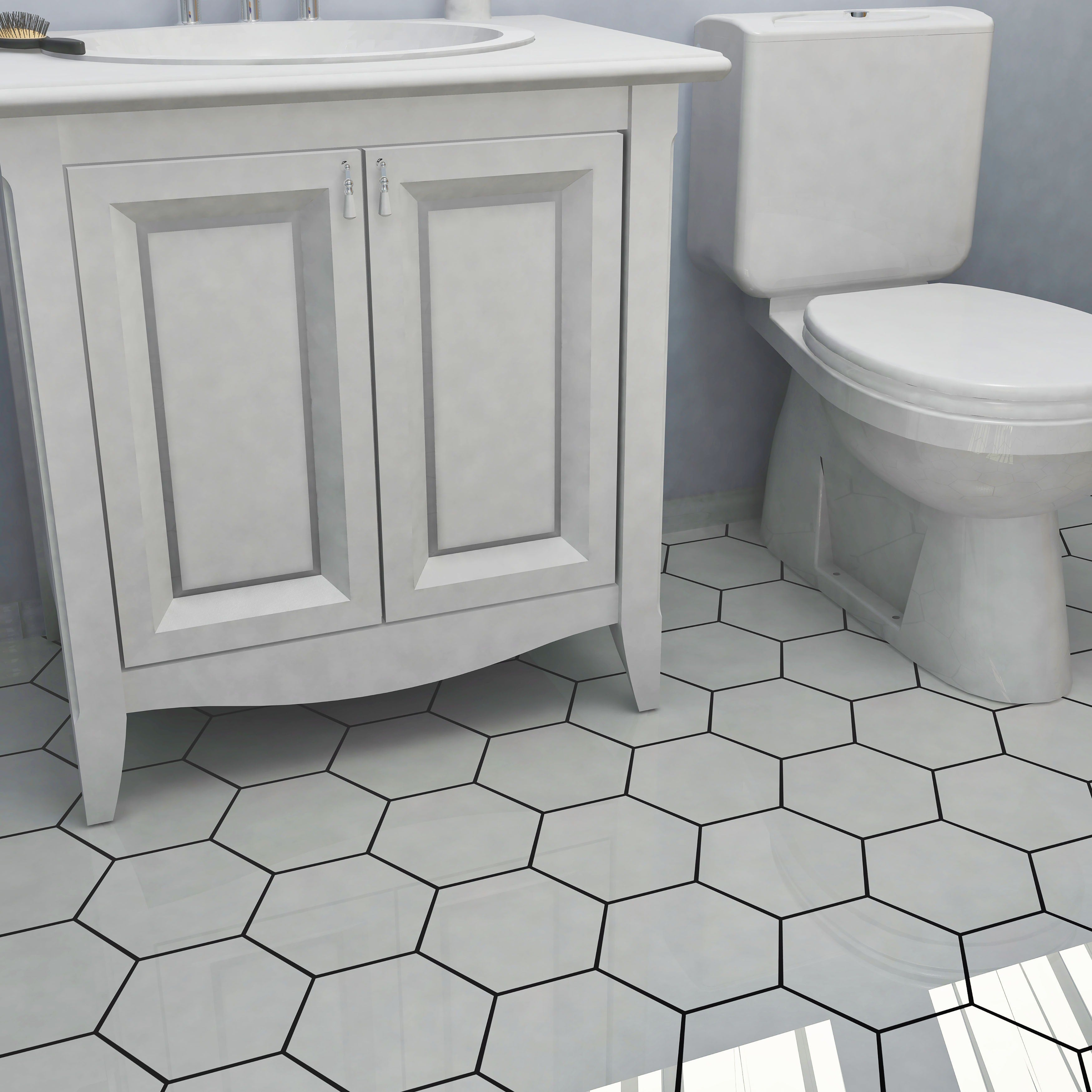 Somertile hextile matte grey porcelain 7x8 inch floor and wall tiles somertile 7x8 inch hextile matte blanco porcelain floor and wall tile 14 tiles dailygadgetfo Images