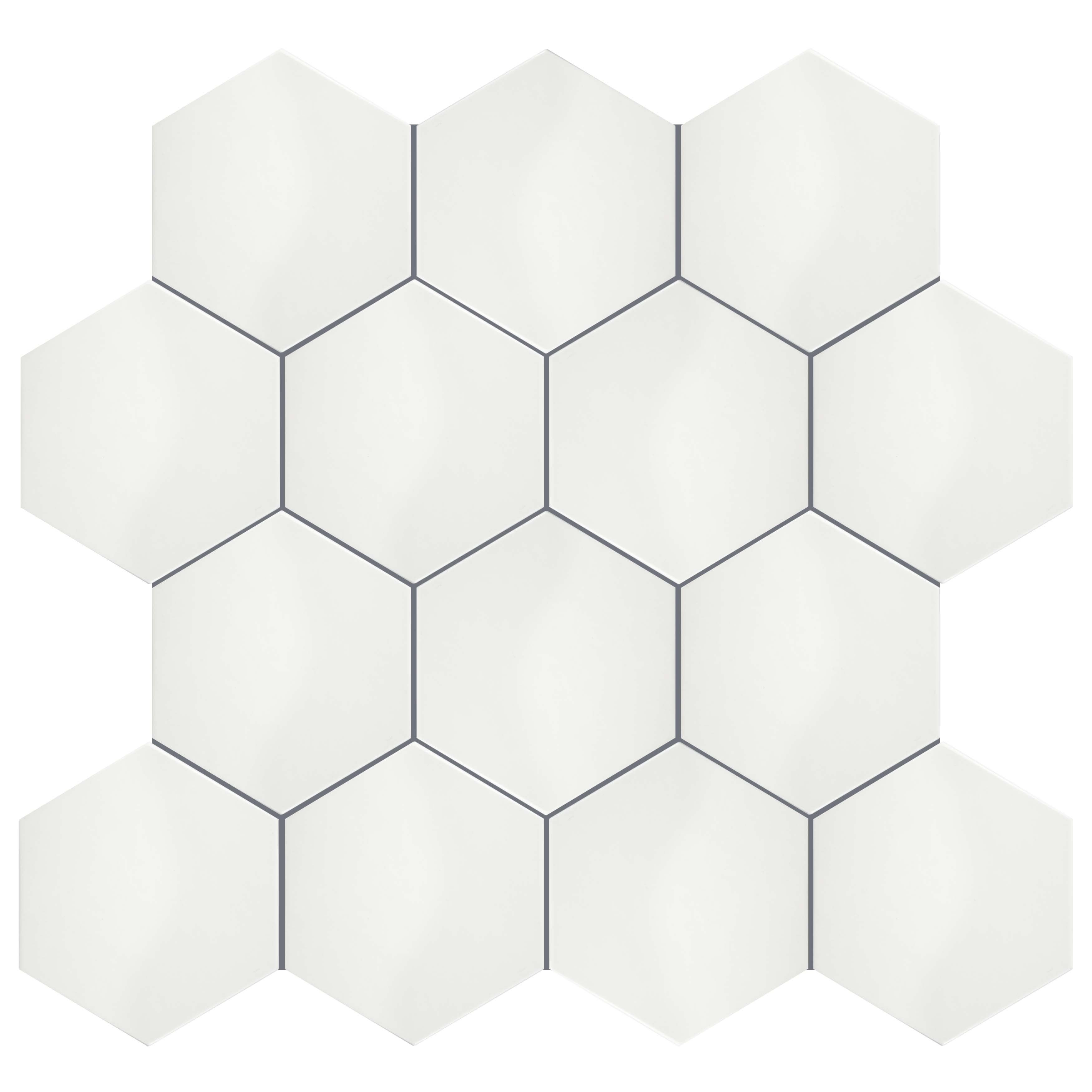 Somertile 7x8 inch hextile glossy blanco ceramic floor and wall somertile 7x8 inch hextile glossy blanco ceramic floor and wall tile 14 tiles44 sqft free shipping on orders over 45 overstock 15742532 dailygadgetfo Image collections