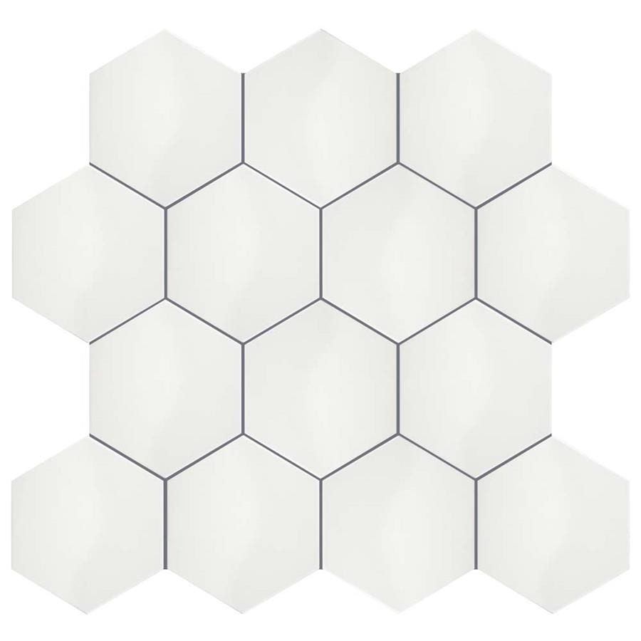 Somertile 7x8 Inch Hextile Glossy Blanco Ceramic Wall Tile 14 Tiles 4 Sqft Free Shipping On Orders Over 45 8448807