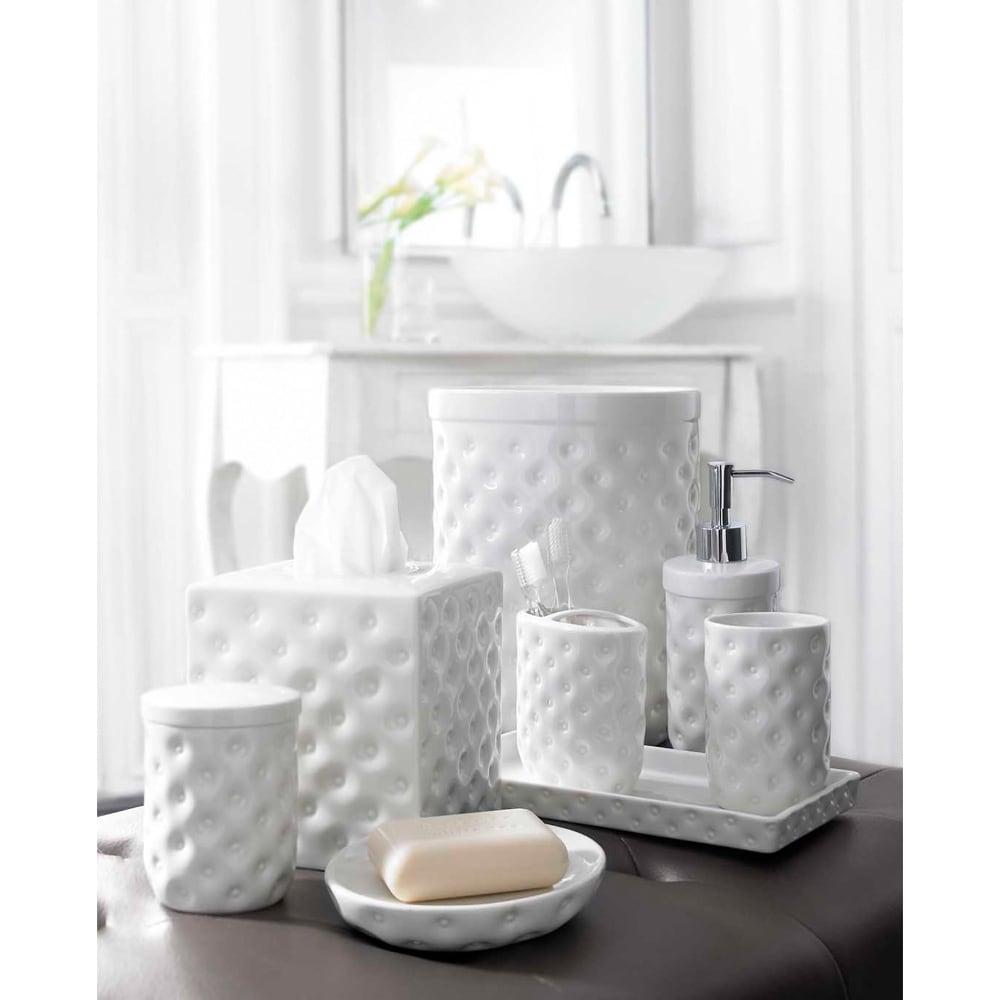 Shop Classic White Porcelain Bath Accessory Collection - Free ...