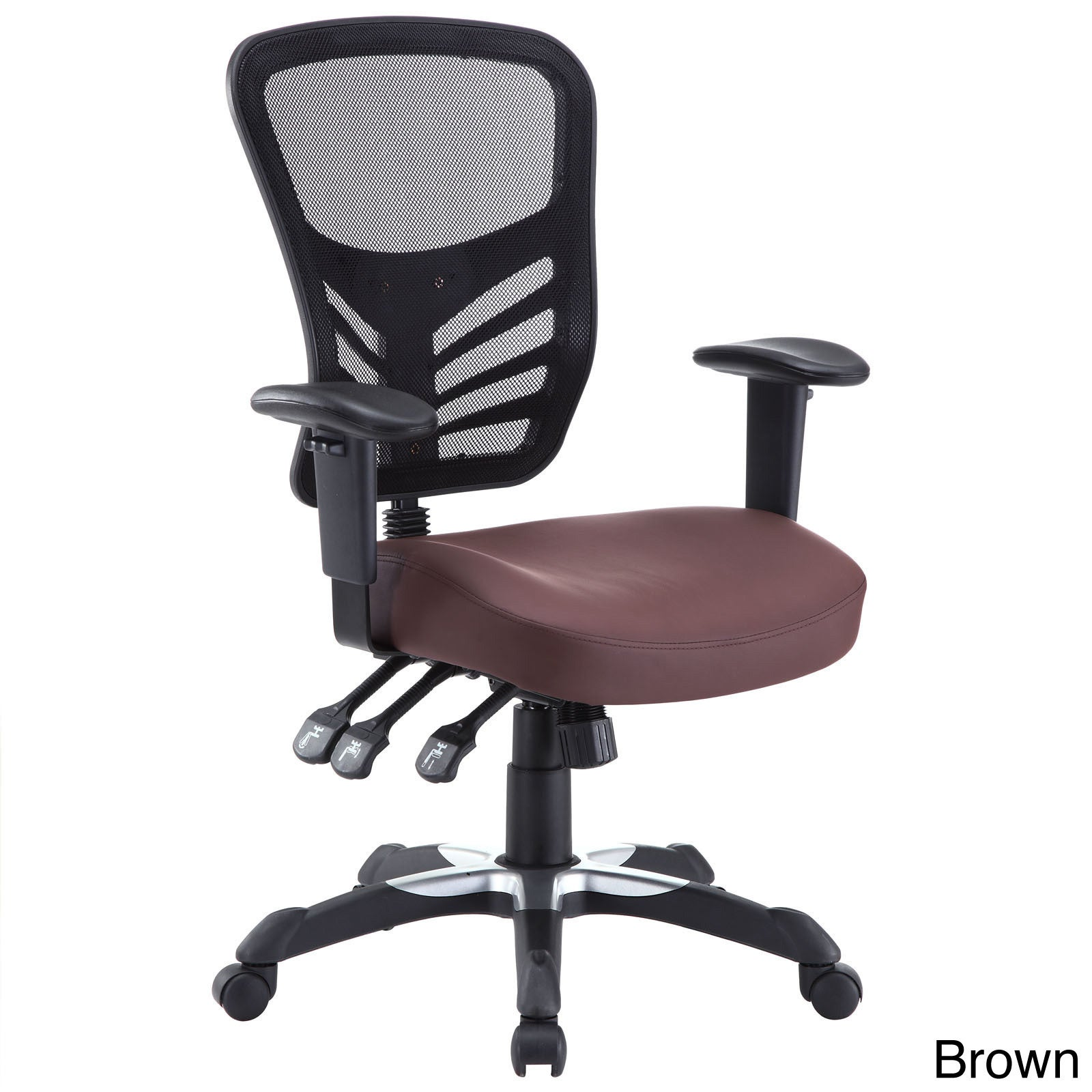 Articulate Mesh Office Chair With Fully Adjule Black Vinyl Seat On Free Shipping Today 8454774