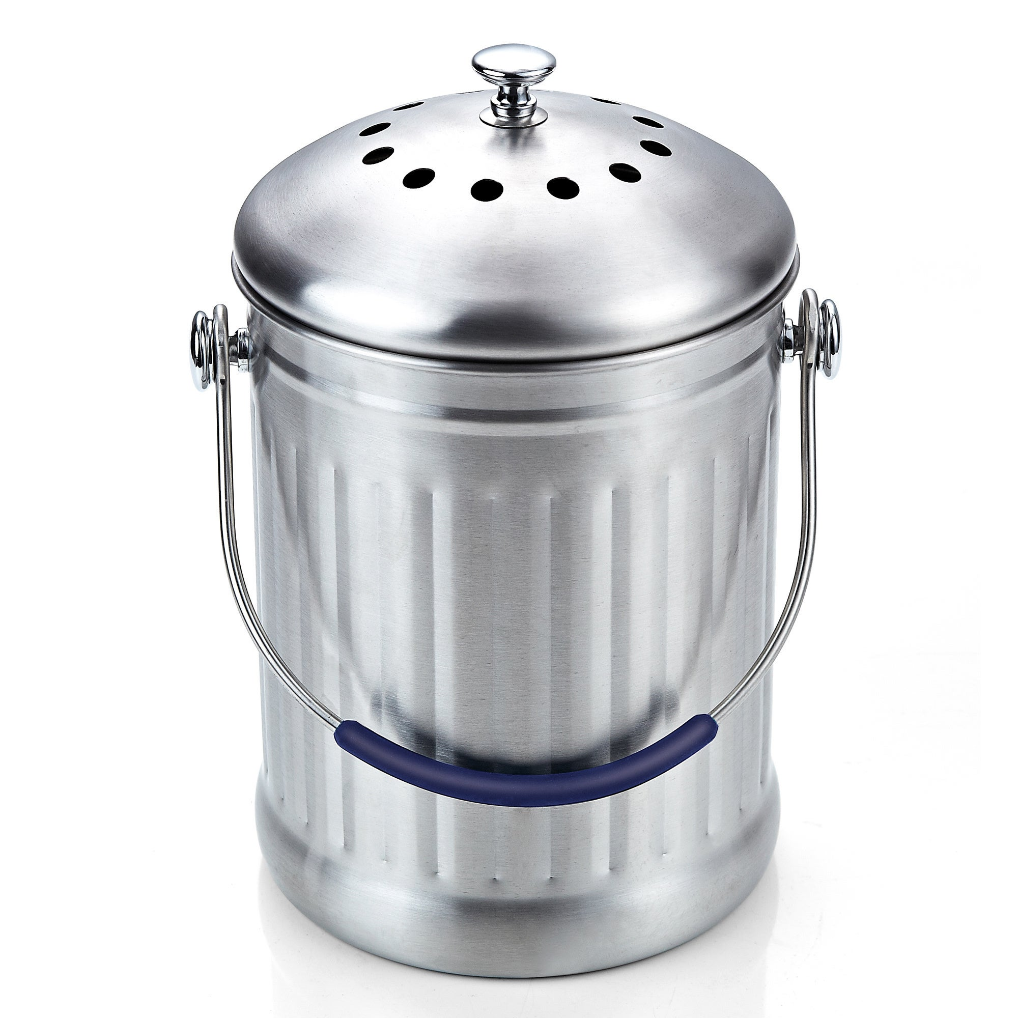 Cook N Home 1 Gallon Stainless Steel Kitchen Compost Bin with ...
