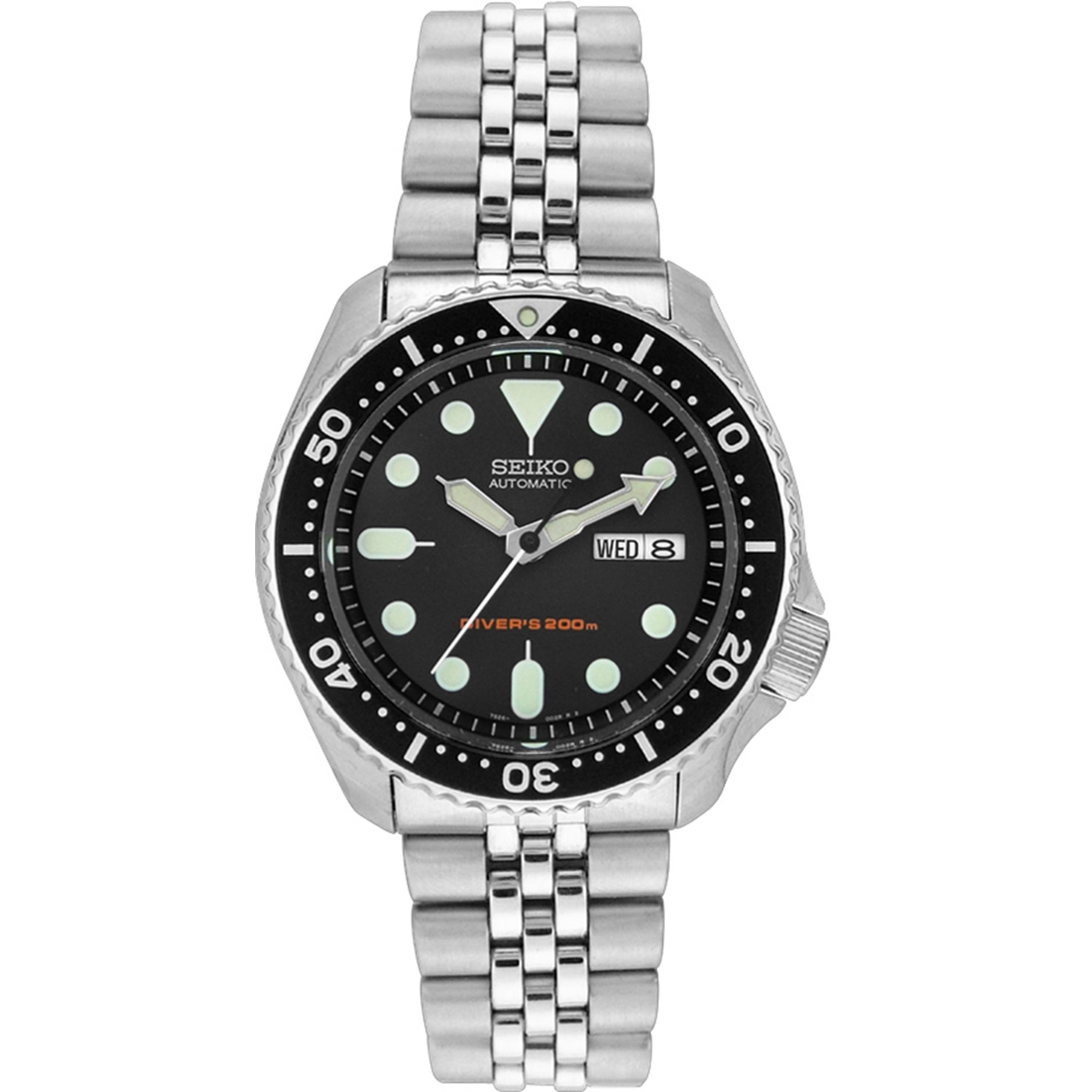 Shop Seiko Mens Skx007k2 Diver Day And Date Black Stainless Steel Automatic Divers 200m Dial Watch On Sale Free Shipping Today 8459139
