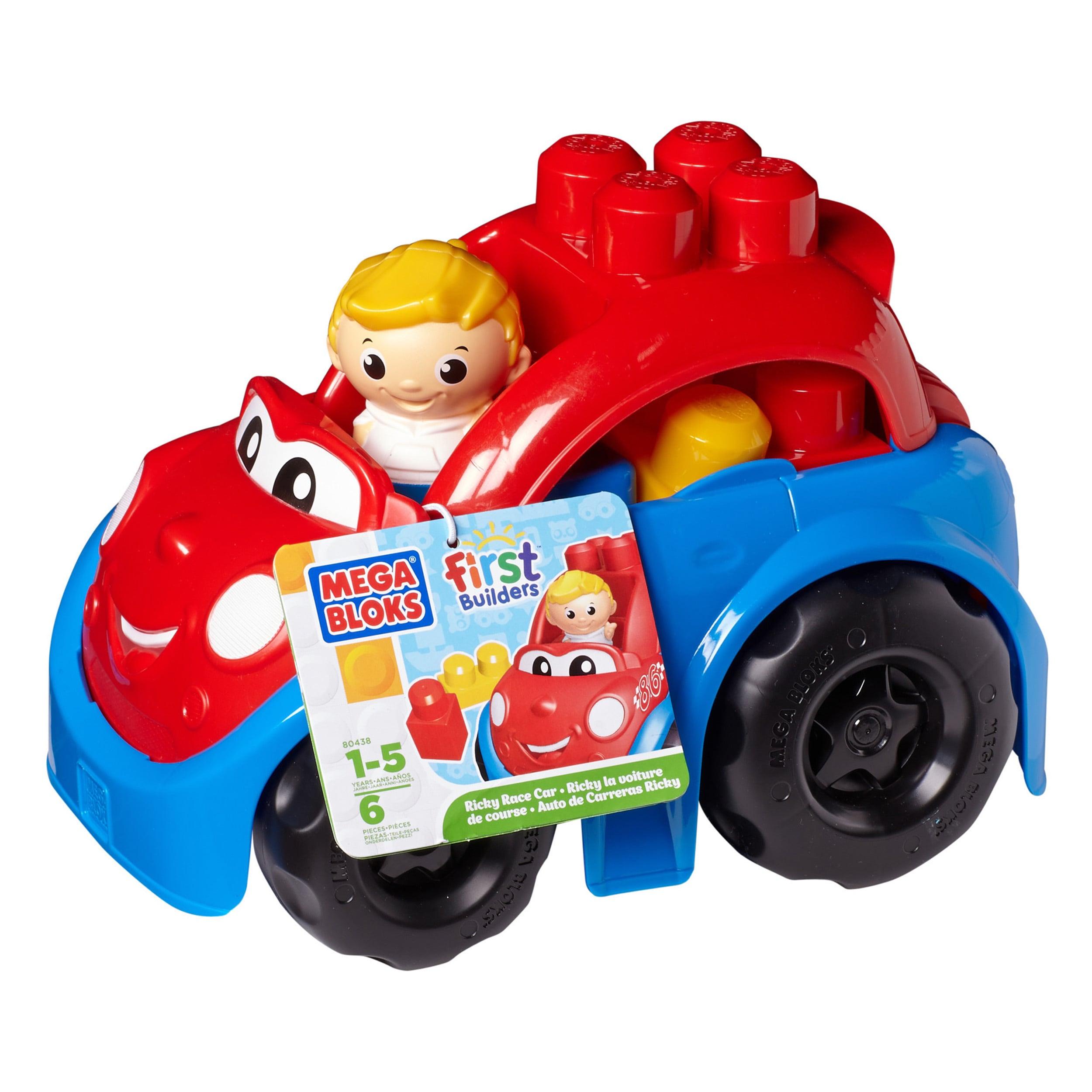 Mega Bloks First Builders Ricky Race Car Playset