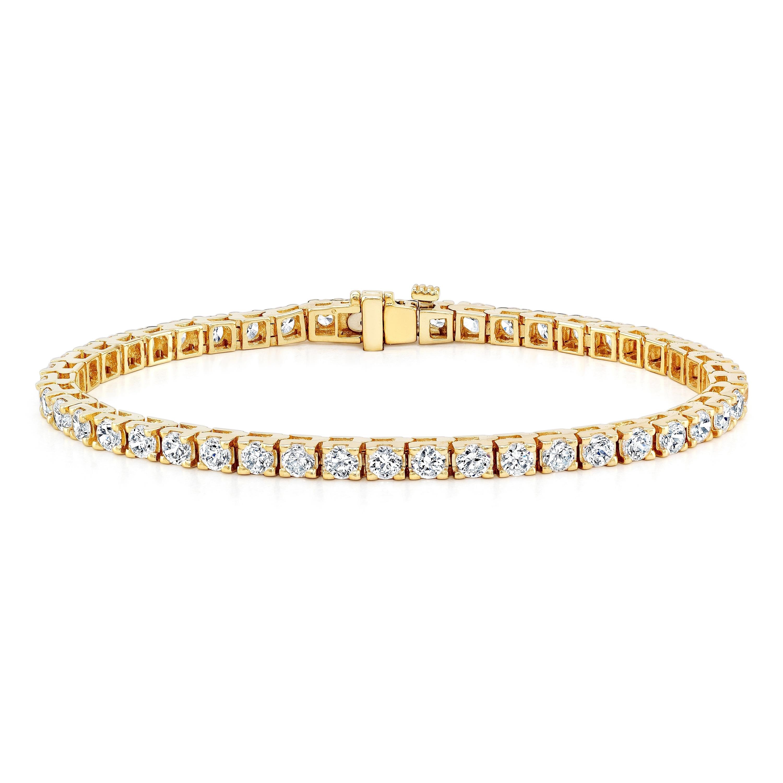 Auriya 14k Gold 2ct Tdw Round Diamond Tennis Bracelet On Free Shipping Today 8459674