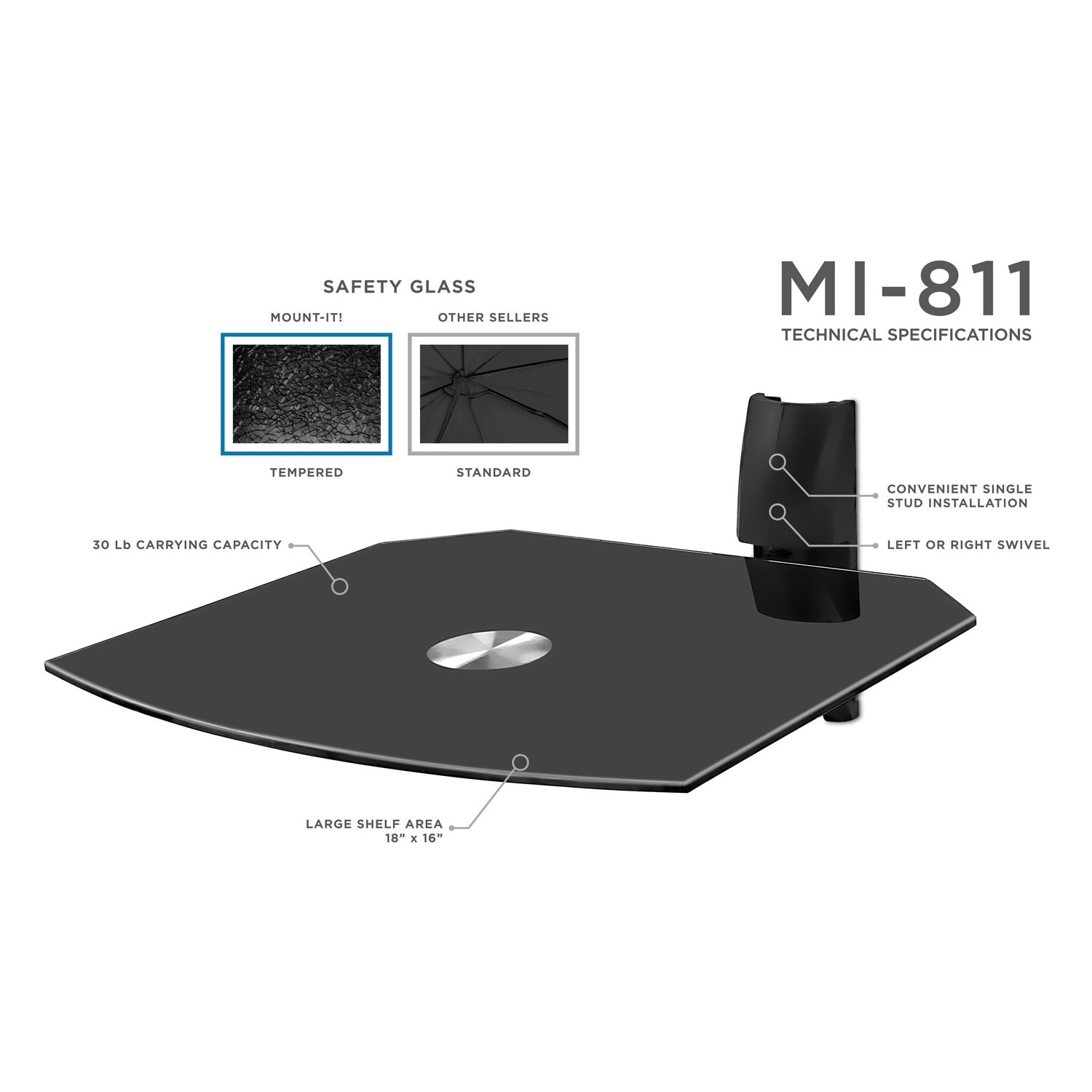 Mount-It! Single Wall Mount Shelf for DVD VCR Cable Box, PS3, XBOX, Stereo  Blu-Ray Components - Free Shipping On Orders Over $45 - Overstock.com -  15752082