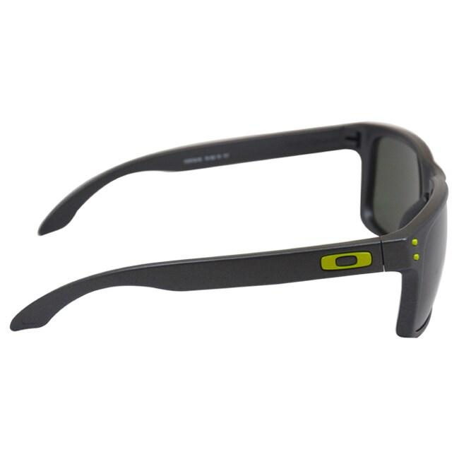 e41b4aa5e5e53 Shop Oakley OO9102-38 Steel Frame Holbrook Dark Grey Lens Men s Sunglasses  - Free Shipping Today - Overstock.com - 8462830