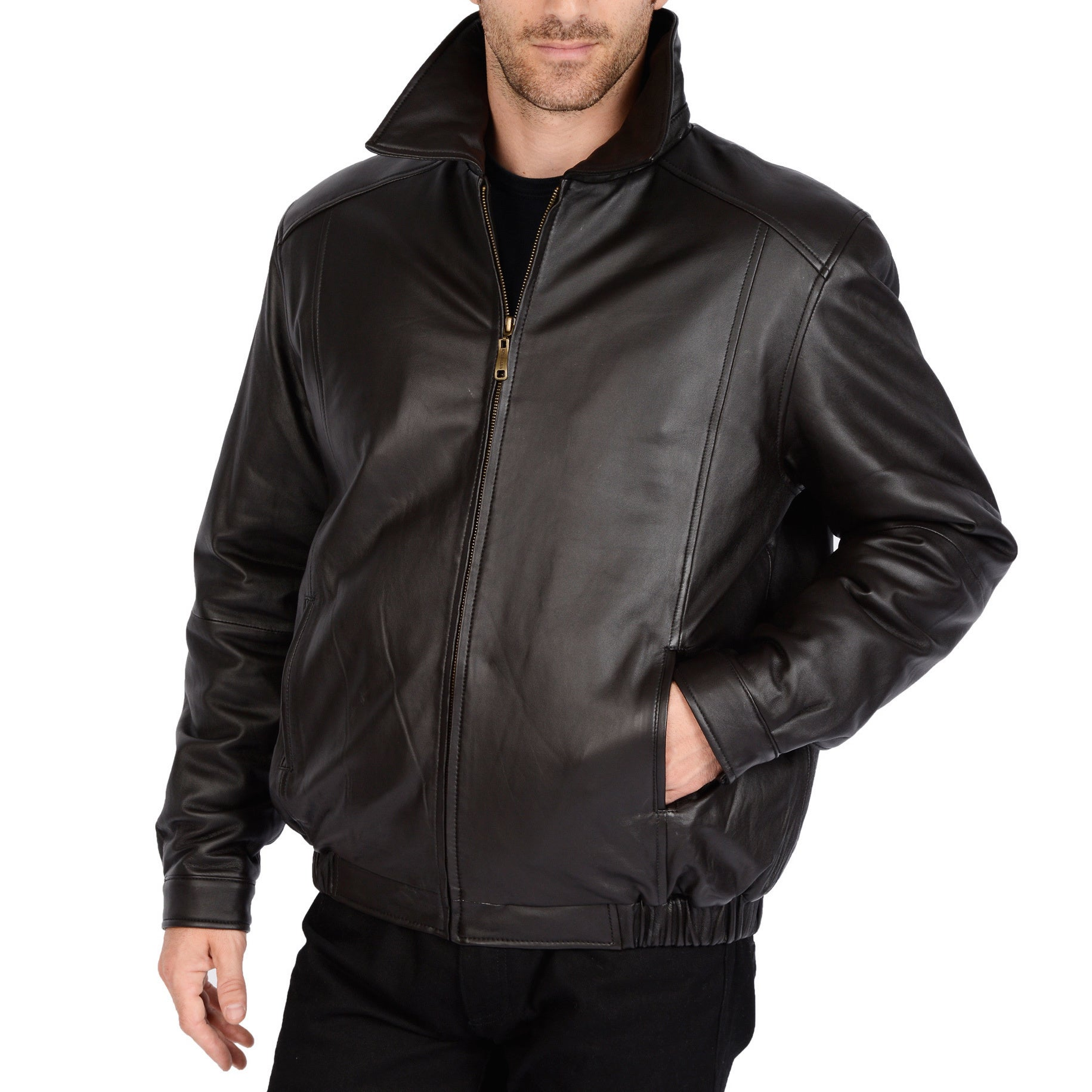 9244e8a5b65 Excelled Men s Big and Tall Lamb Leather Bomber Jacket