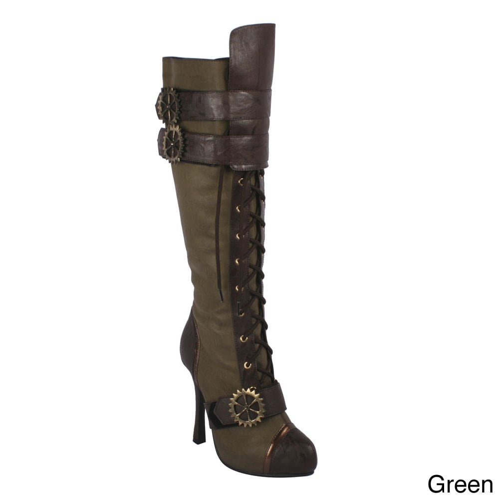 511561e6920 Shop Ellie Women s  420-Quinley  Knee High Steampunk Boot - Free Shipping  Today - Overstock - 8466316
