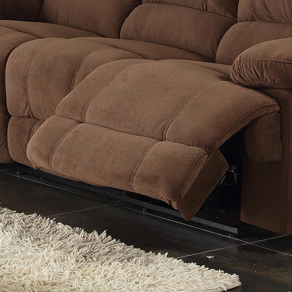 Kevin Sectional Transitional Sofa Loveseat Wedge 3 Piece Set  ~ Sectional Sofa With Wedge