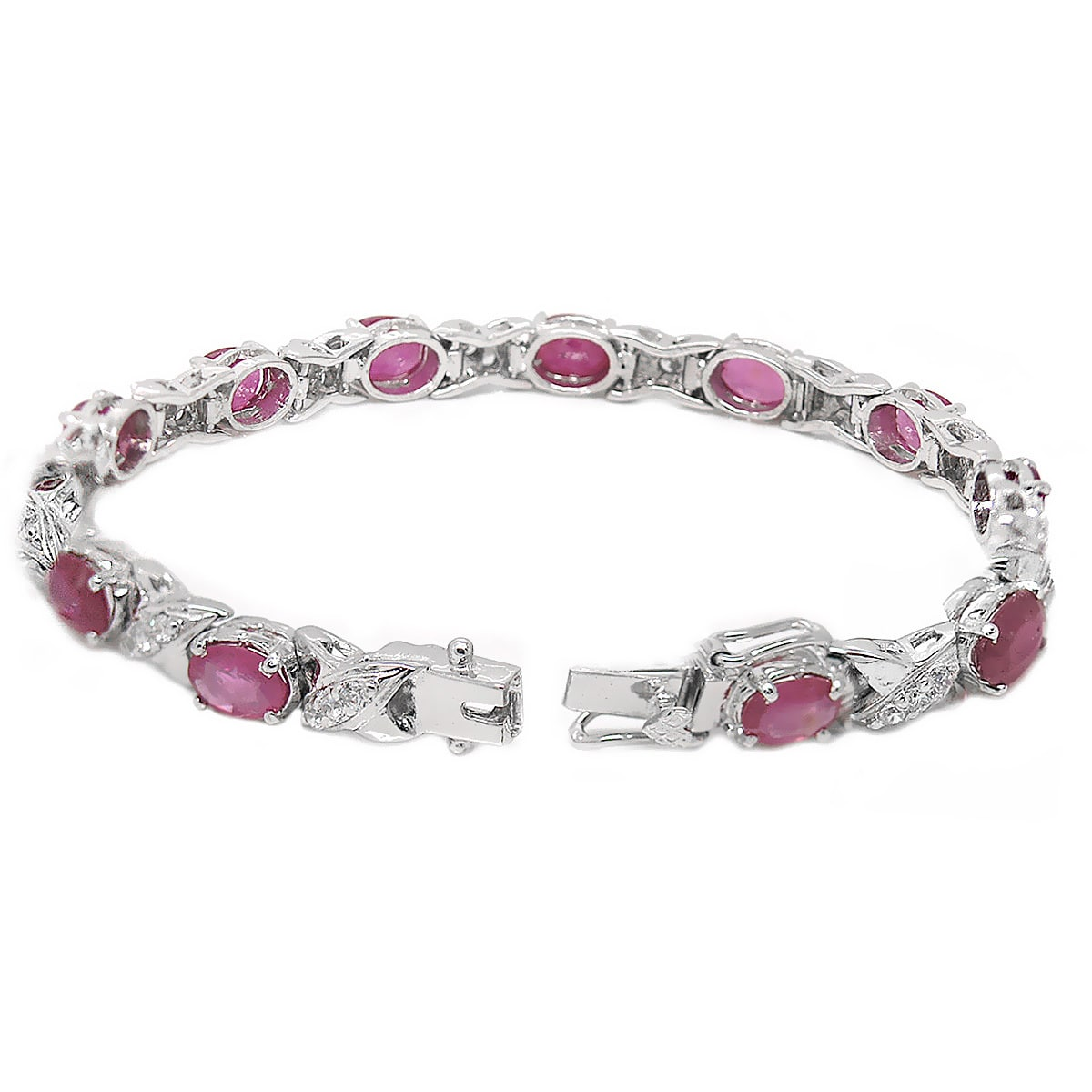 De An Sterling Silver Natural Ruby Bracelet Free Shipping Today 15764803