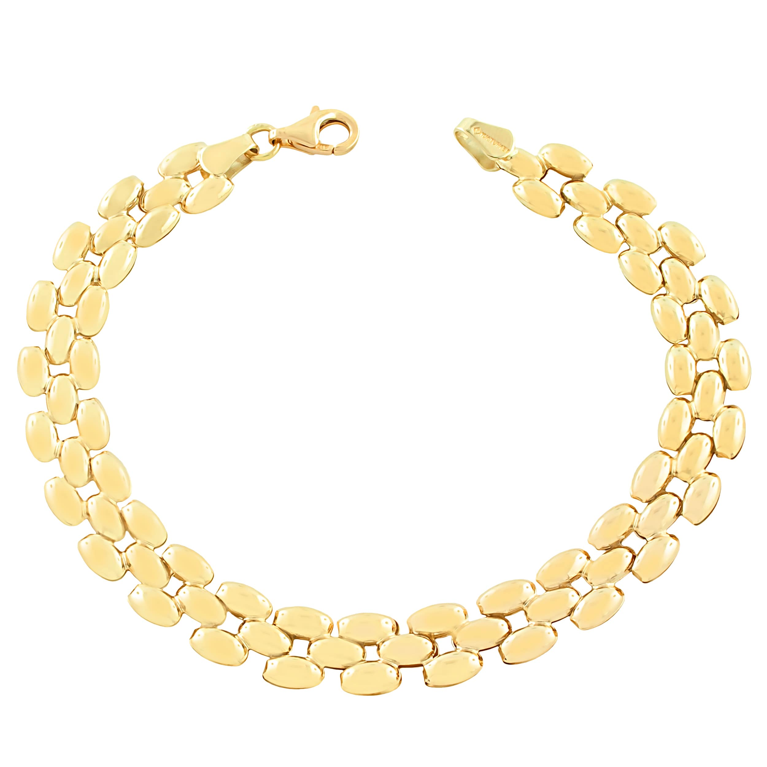 carrera yellow panther bracelet i bangle double gold diamond y