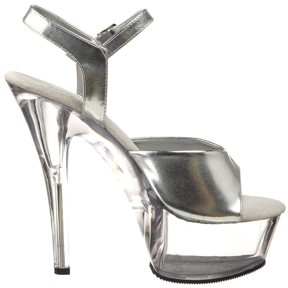 0c4ff57f6103 Shop Pleaser Women s  Kiss-209  6-inch Spike Heel Platform Sandals - Free  Shipping On Orders Over  45 - Overstock - 8478329