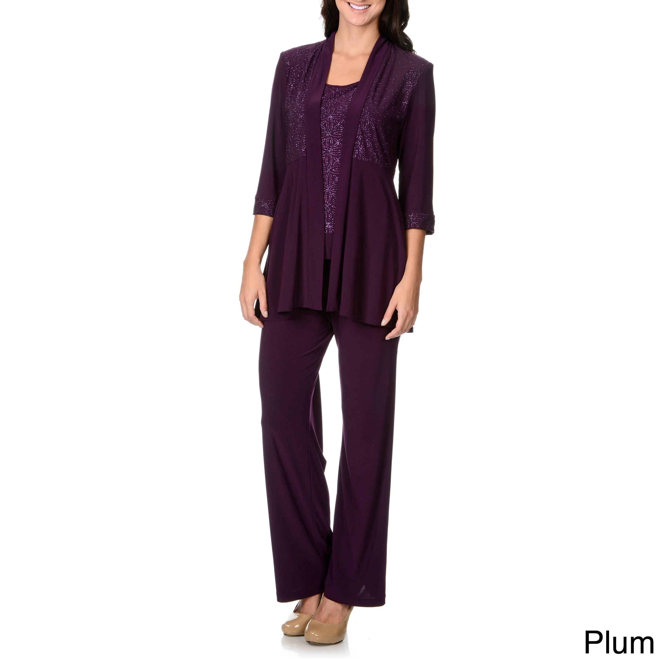 df61450d2a13 Shop R M Richards Women s Mock 2-piece Pant Set - Free Shipping ...