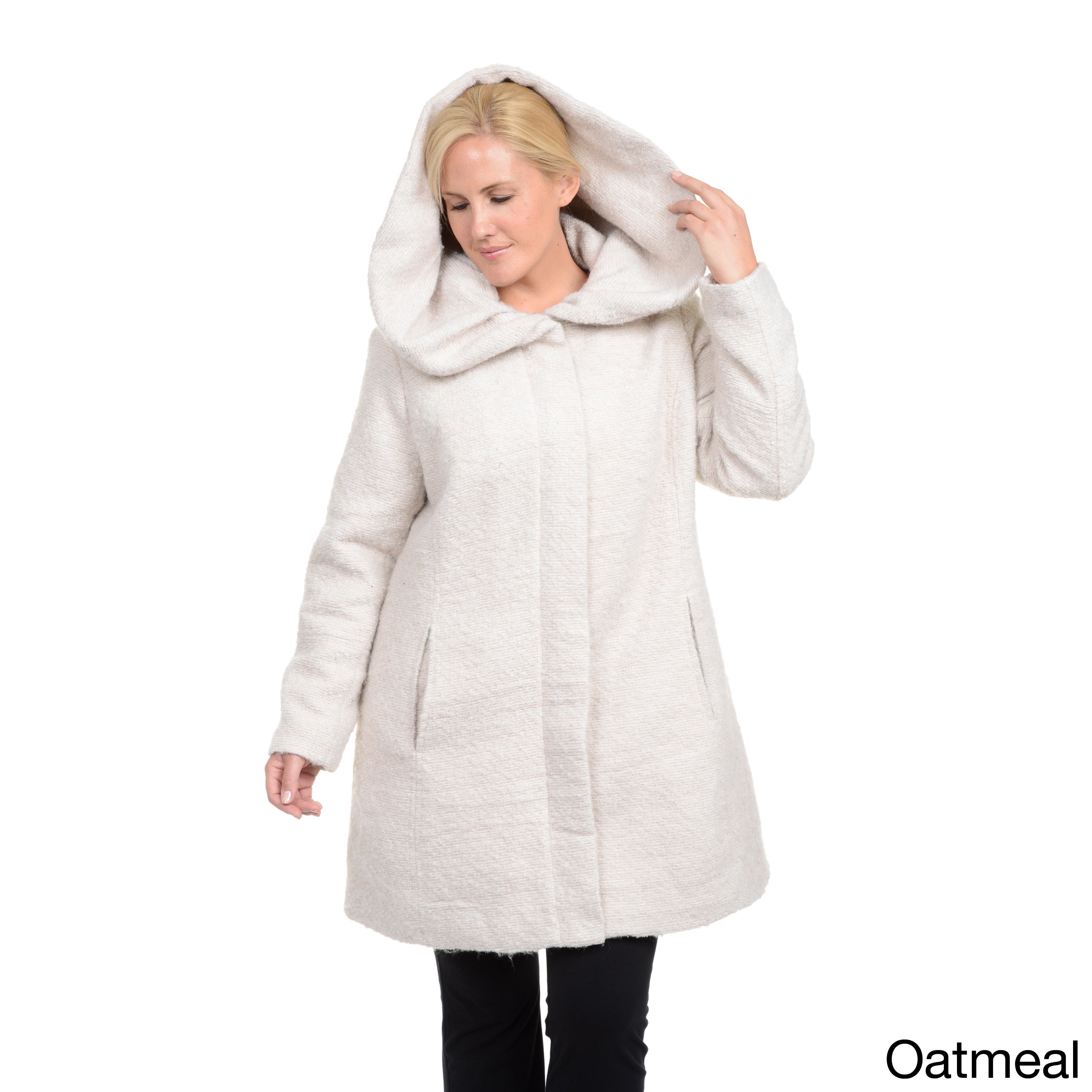 Excelled Plus Oversize Shawl Collar Coat - Free Shipping On Orders Over $45  - Overstock.com - 15769896