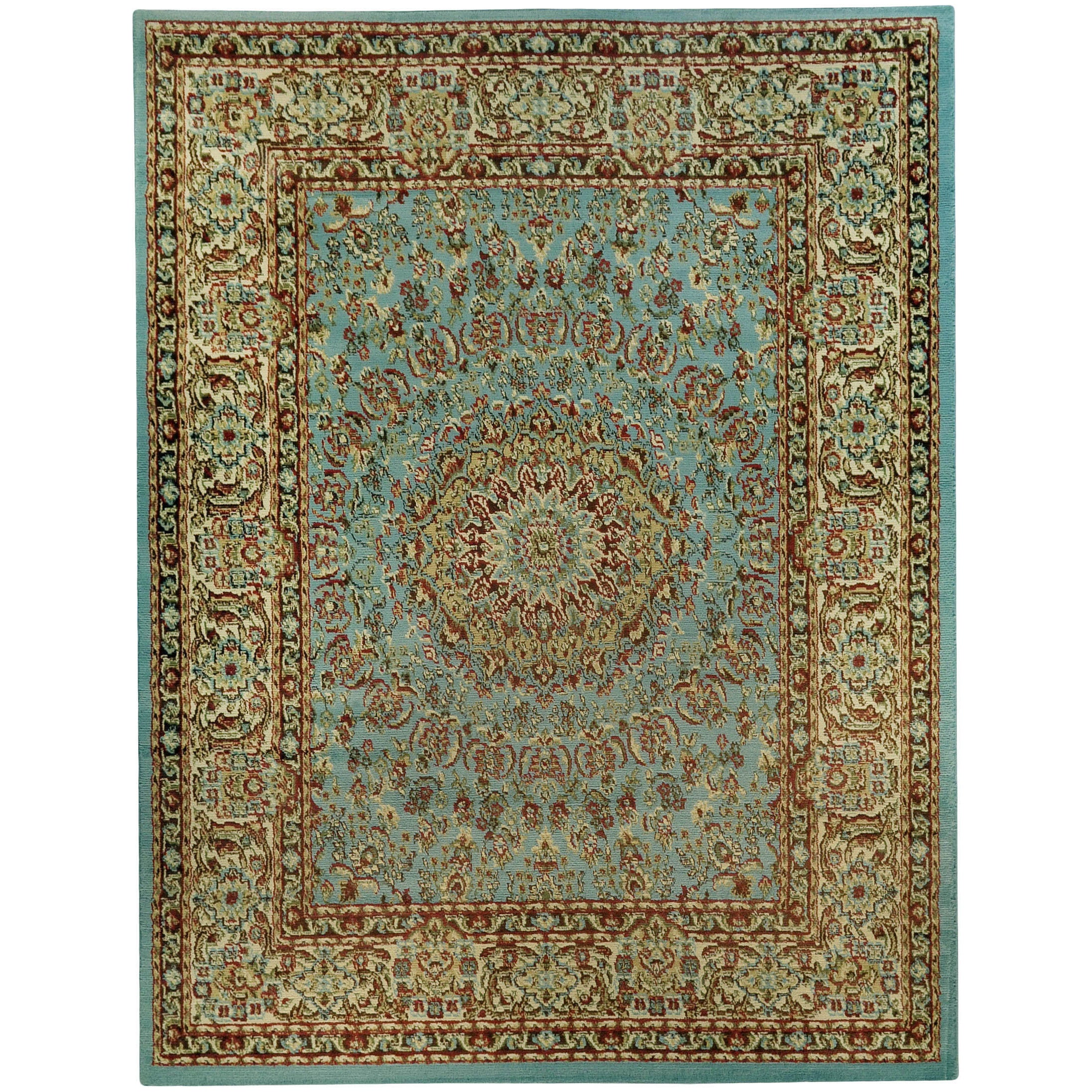 Pasha Collection Medallion Traditional Ocean Blue Area Rug (7u002710 X 10u00276)    Free Shipping Today   Overstock.com   15770306