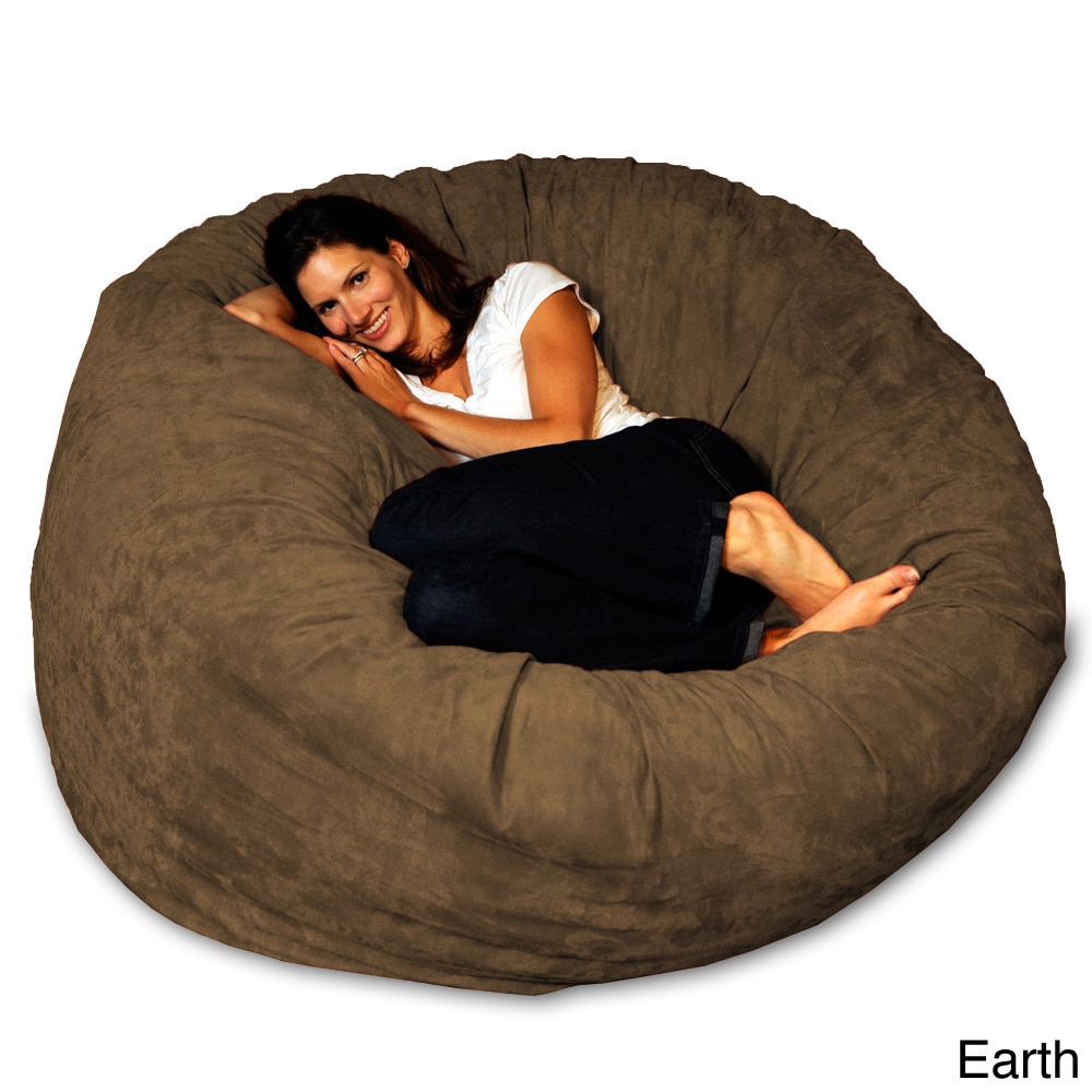5 Foot Memory Foam Bean Bag Chair On Free Shipping Today 8486912