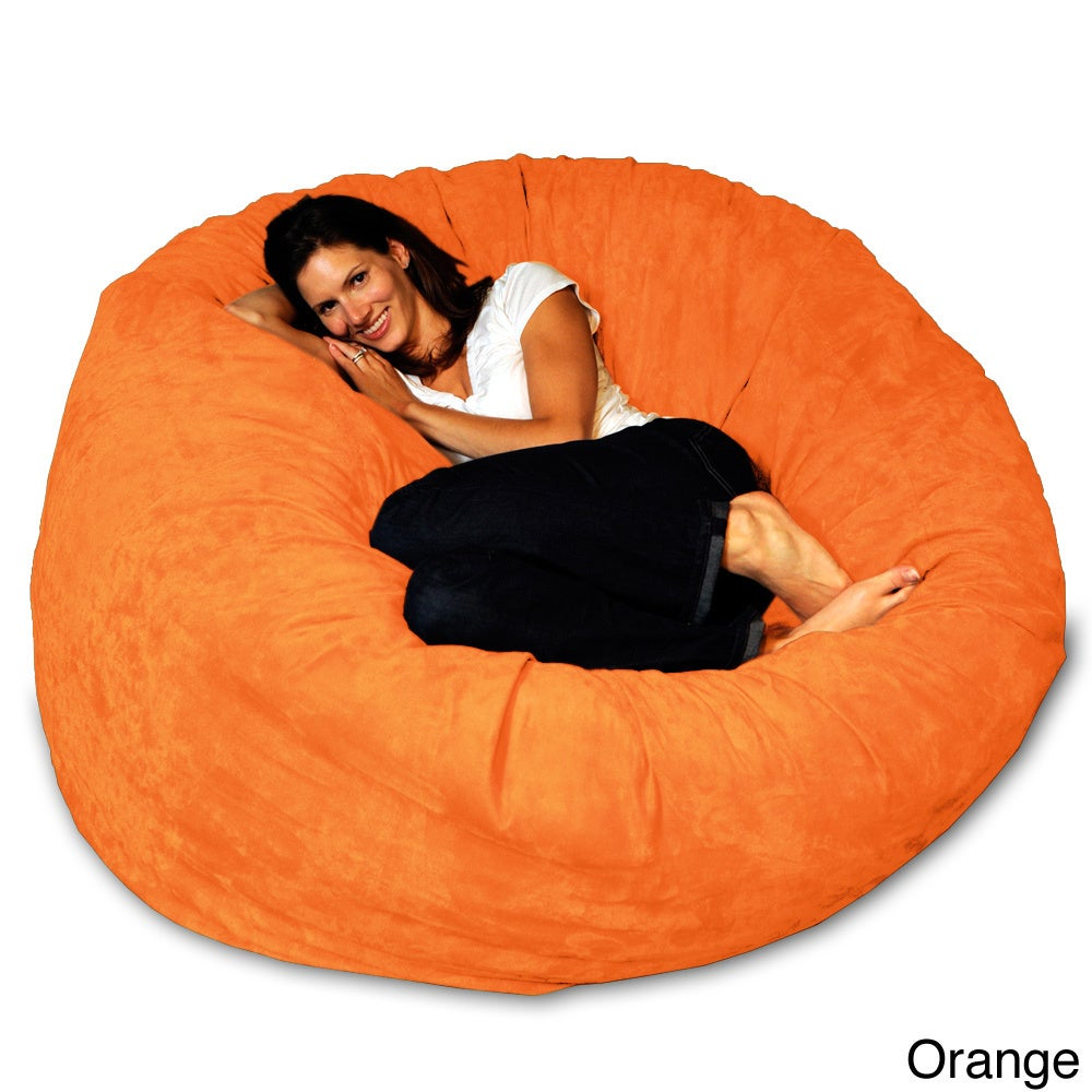 Shop 5 Foot Memory Foam Bean Bag Chair   Free Shipping Today    Overstock.com   8486912