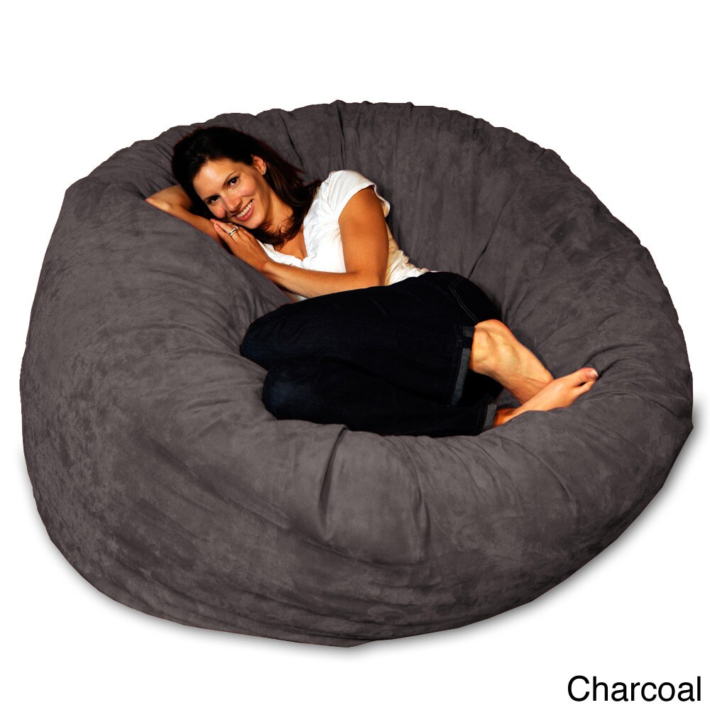 5 Foot Memory Foam Bean Bag Chair   Free Shipping Today   Overstock    15774676