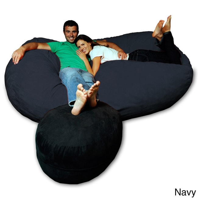 75foot Soft Memory Foam Micro Suede Beanbag Chair Lounger Free