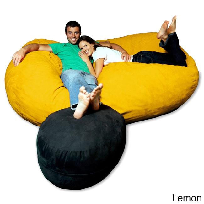 75 Foot Soft Memory Foam Micro Suede Beanbag Chair Lounger