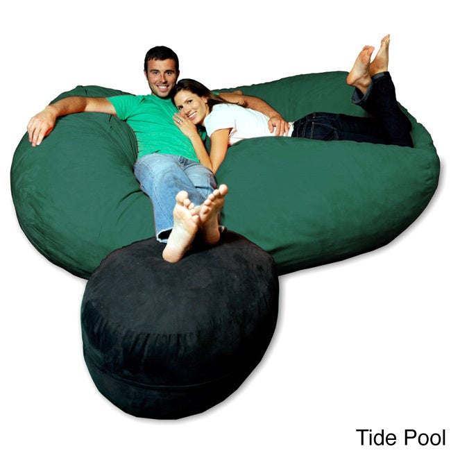 Soft Memory Foam Microsuede 7 5 Foot Beanbag Chair Lounger Free Shipping Today 8486920