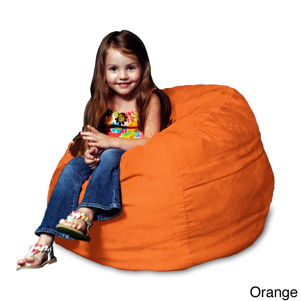 Shop Memory Foam Micro Suede Kids Beanbag Chair For   Free Shipping Today    Overstock.com   8494144