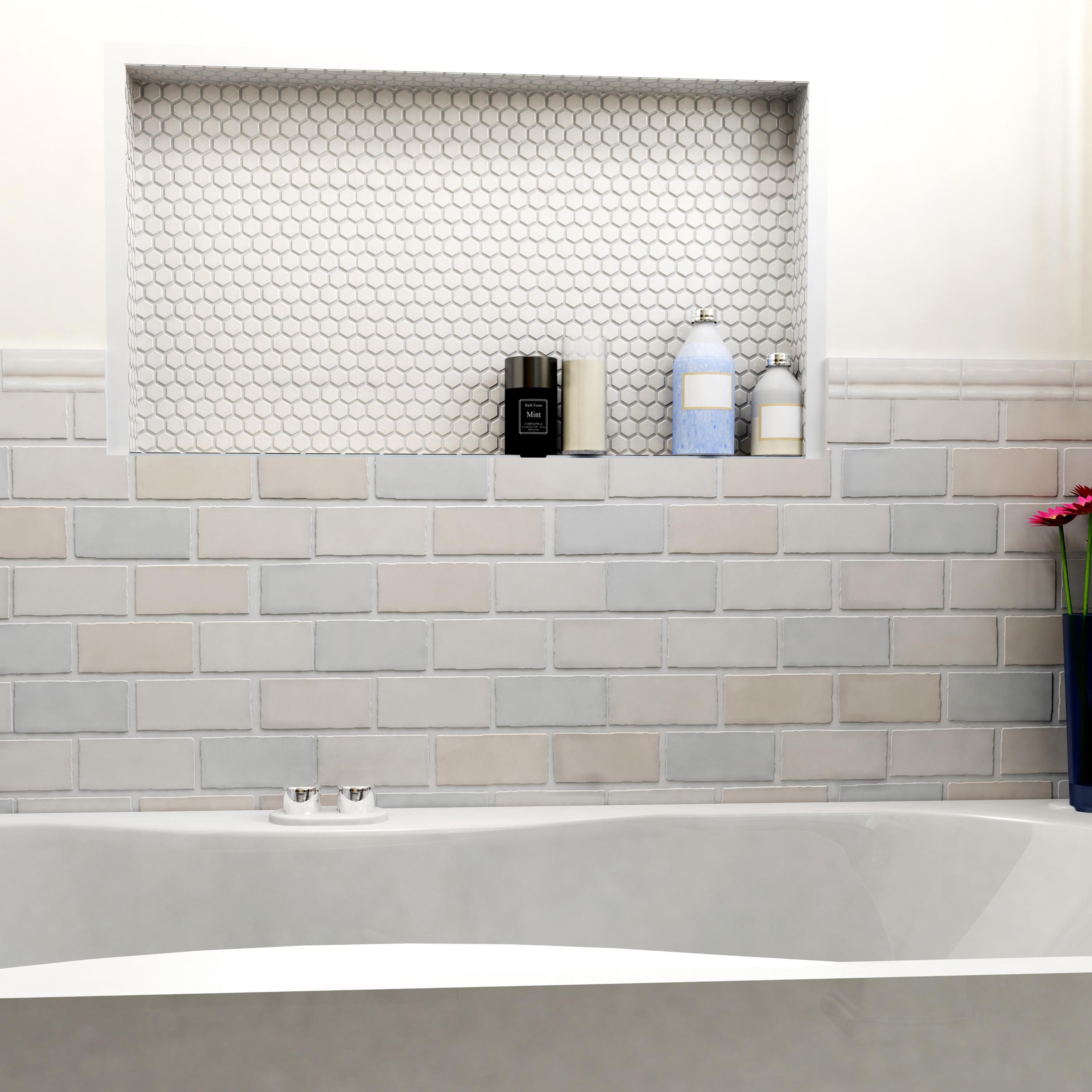 SomerTile 2.875x5.875-inch Artic Craquelle Mix Ceramic Wall Tile (32 ...
