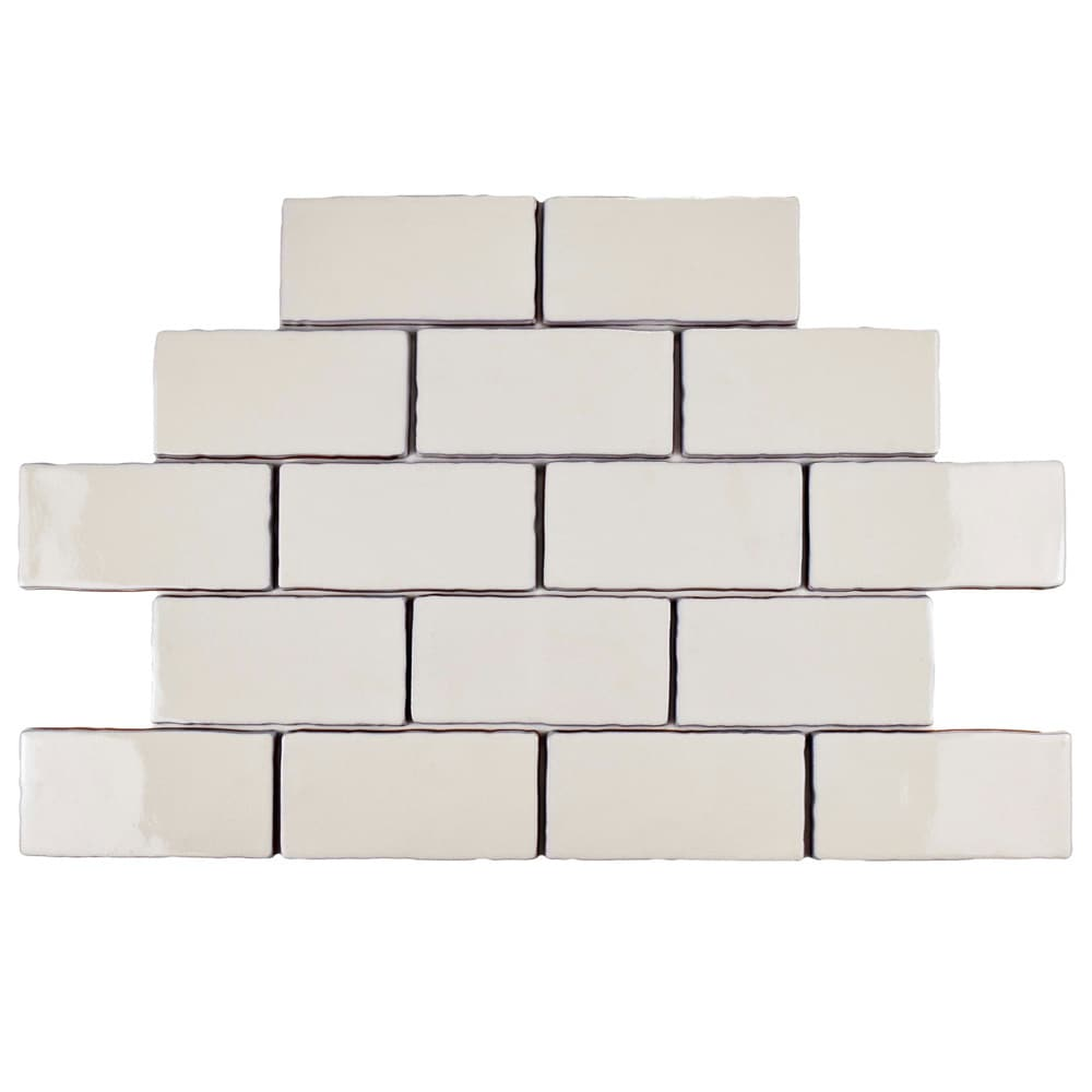 Somertile 2875x5875 inch artic craquelle white ceramic wall tile somertile 2875x5875 inch artic craquelle white ceramic wall tile 16 tiles2 sqft free shipping on orders over 45 overstock 15781315 dailygadgetfo Choice Image