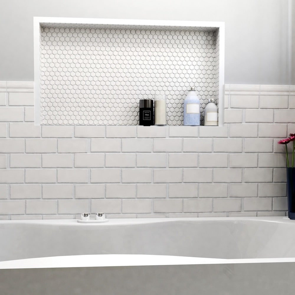 SomerTile 2.875x5.875-inch Artic Craquelle White Ceramic Wall Tile ...