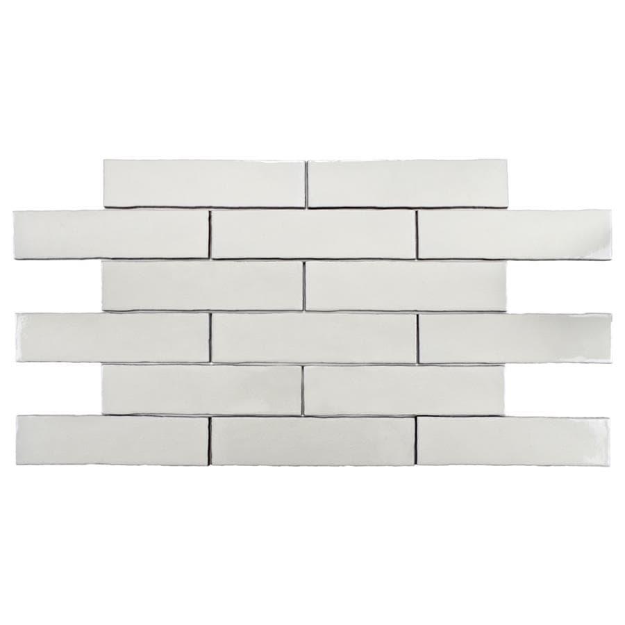 Shop Somertile 3x12 Inch Alaskan Craquelle White Ceramic Wall Tile