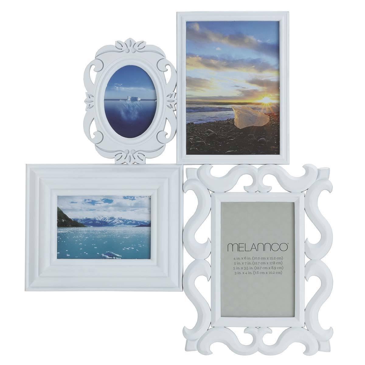 Shop Melannco White 4-image Multi-profile Collage Frame - Free ...