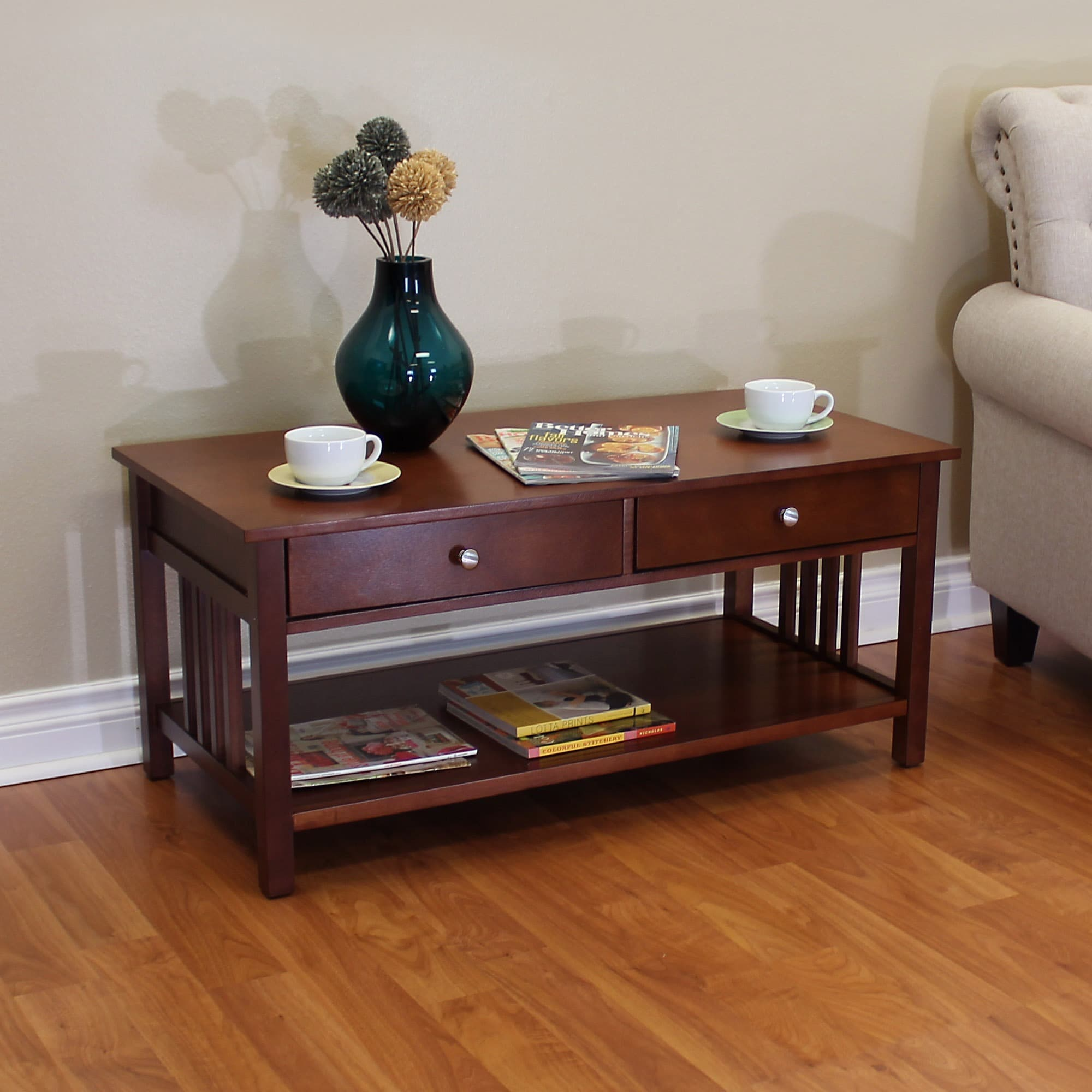 Superieur Hollydale Chestnut Mission Style Coffee Table