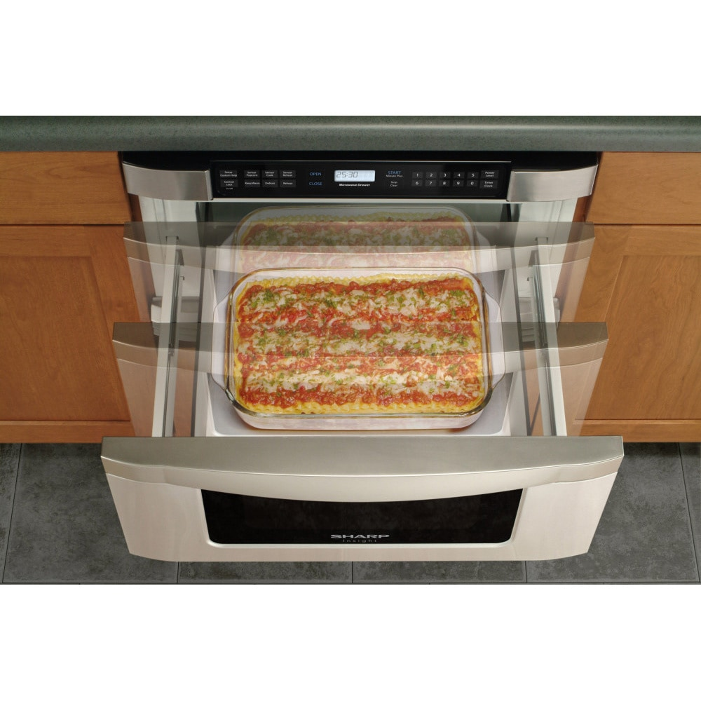 Sharp Insight Pro Series 24 Inch Built In Microwave Drawer Free Shipping Today 15783125