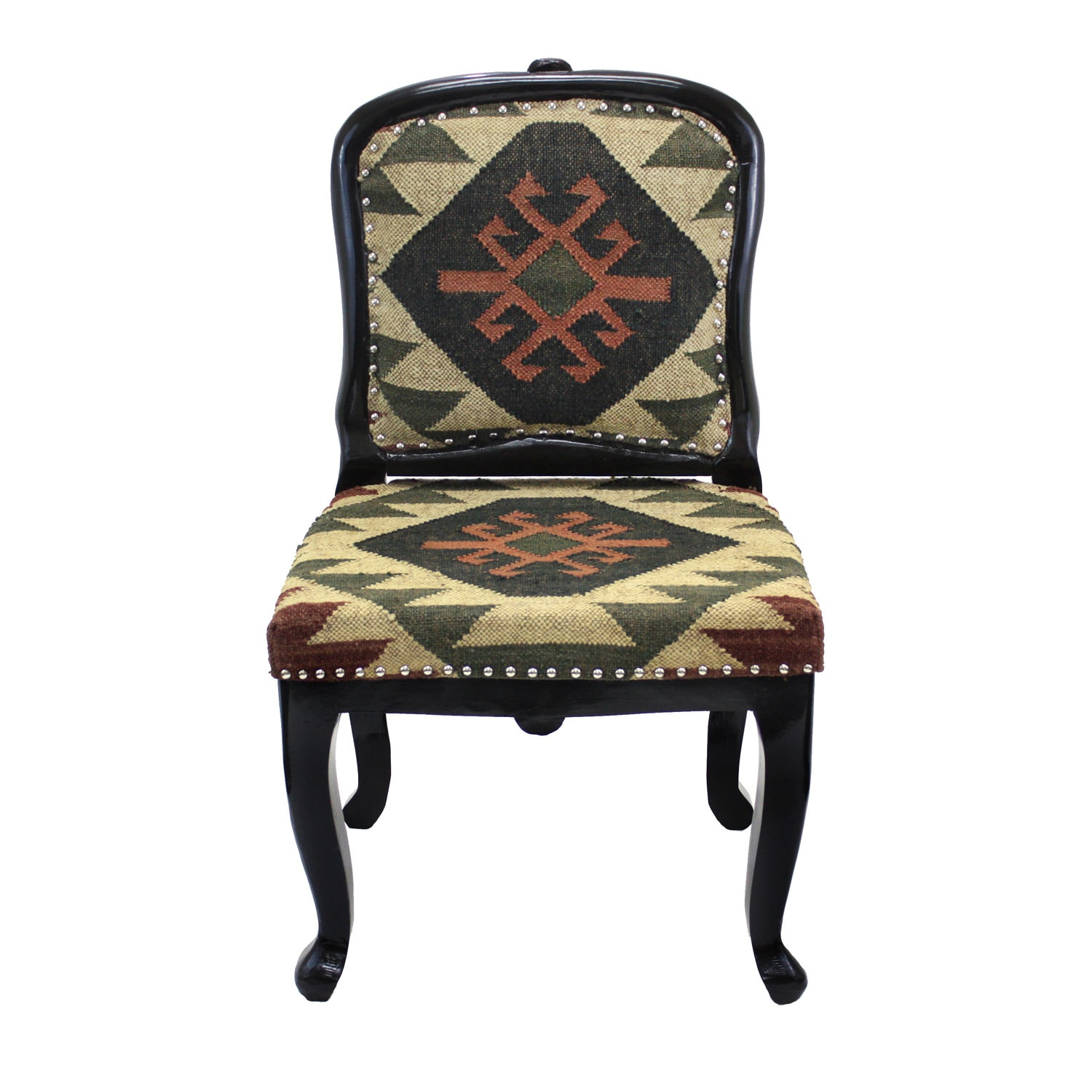 Shop handmade tristan kilim upholstered armless accent chair india free shipping today overstock com 8497662