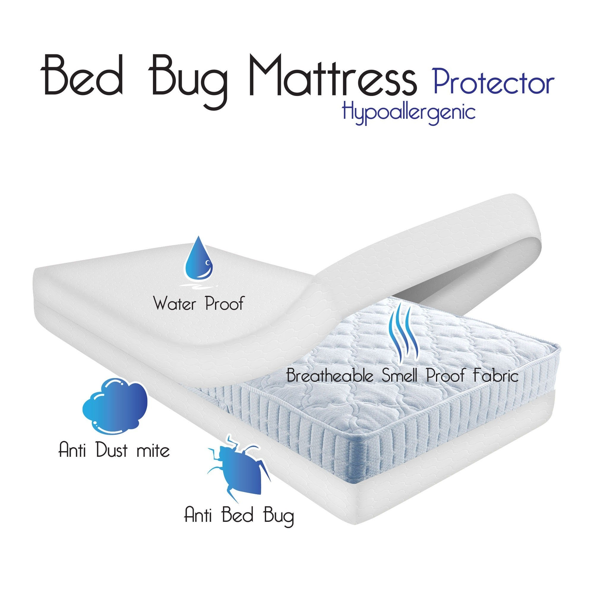 toppers brampton fitted white protectors mattress protector bed house underlays bacterial anti bedding