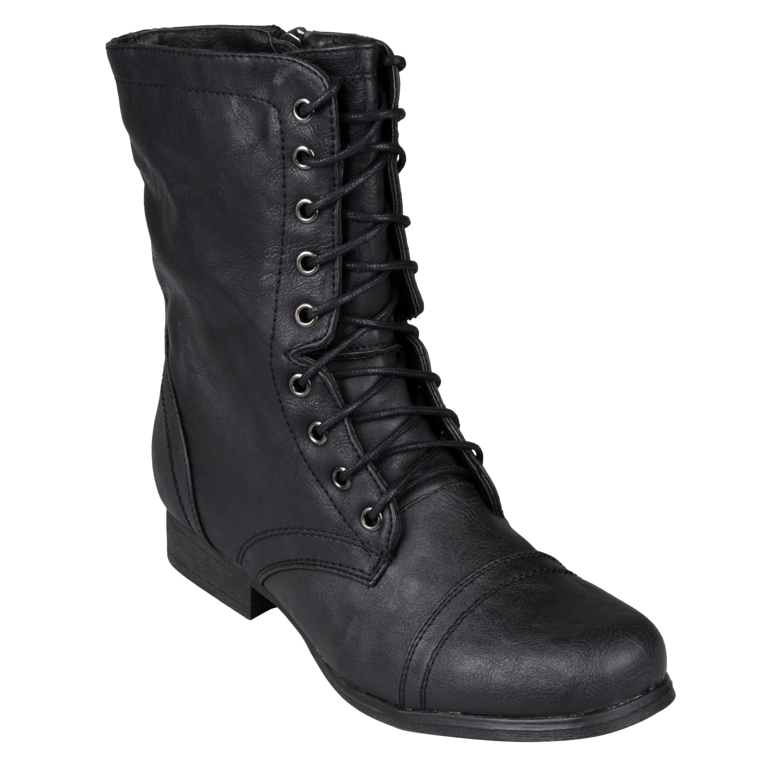 ca9ef3451a5 Madden Girl by Steve Madden Women's Lace-Up Ankle Combat Boots