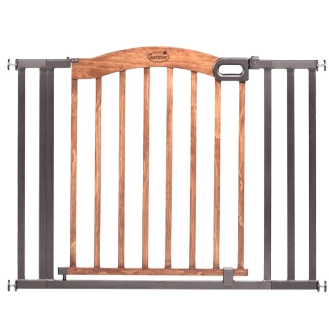 Shop Summer Infant Wood Metal Expansion Gate - Free Shipping Today ...