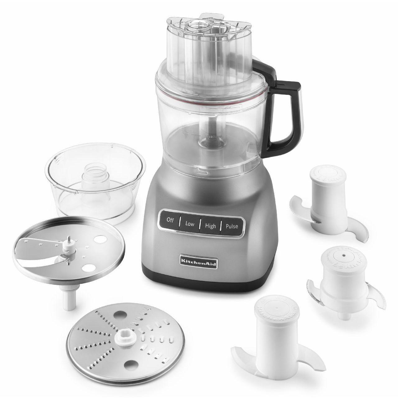 KitchenAid KFP0922CU Contour Silver 9-cup Food Processor - Free ...