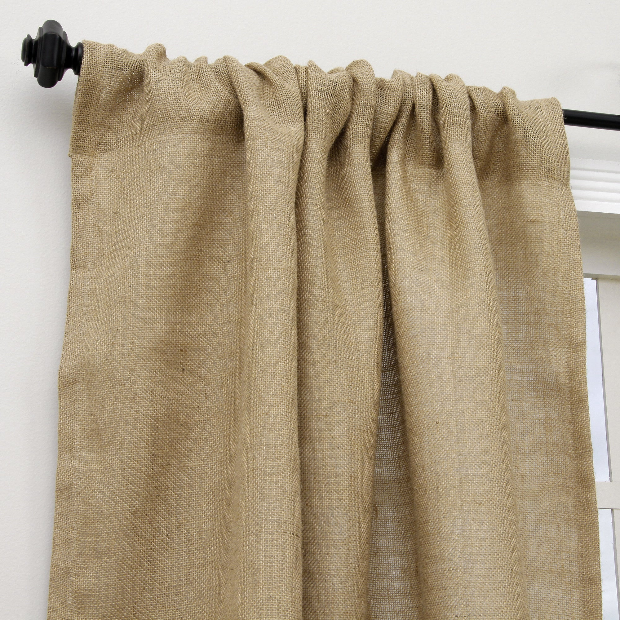 Open Weave Lined Burlap 96-inch Curtain Panel - Free Shipping ...