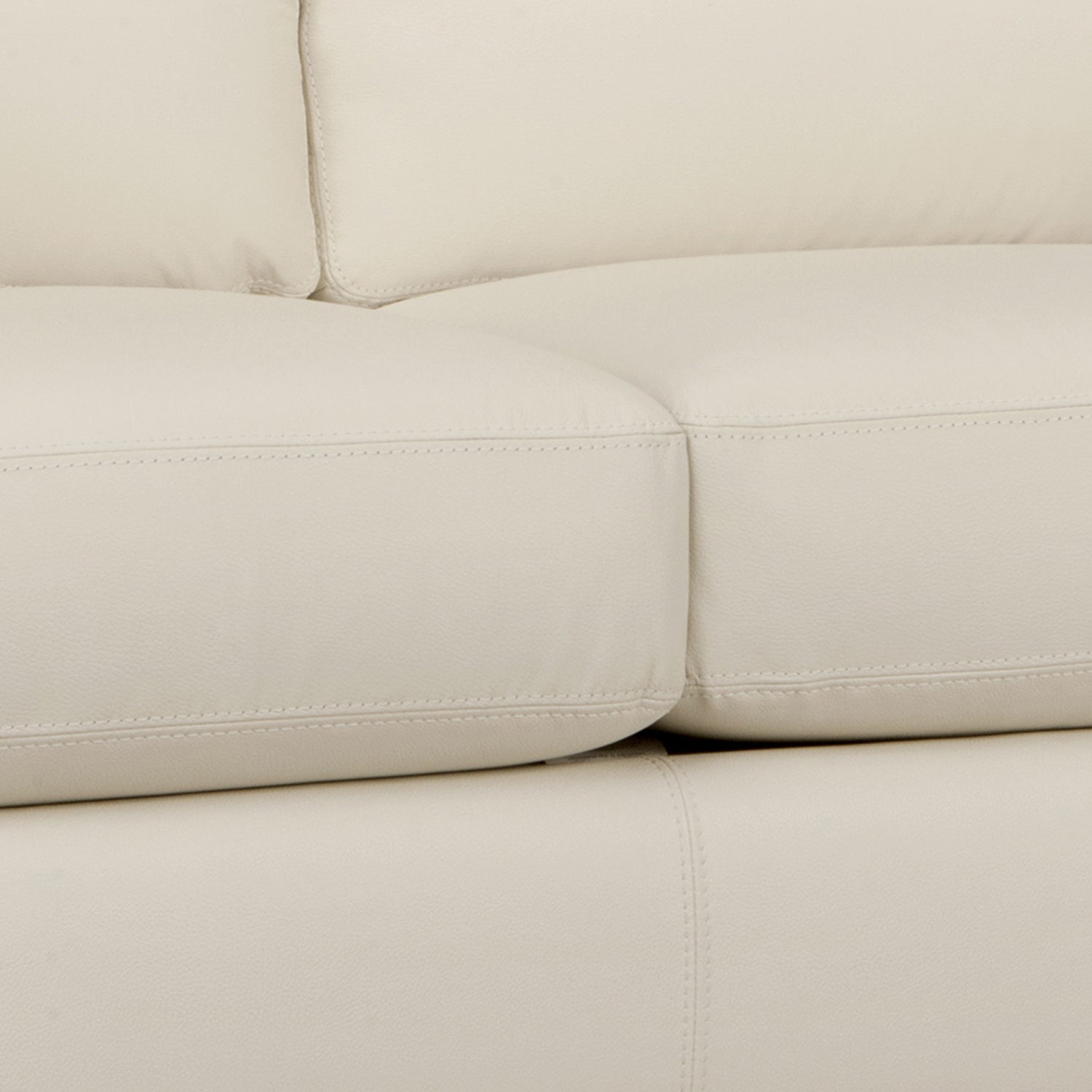 Bryce White Italian Leather Sofa And Two Chairs Free Shipping  ~ Leather Sofa And Two Chairs